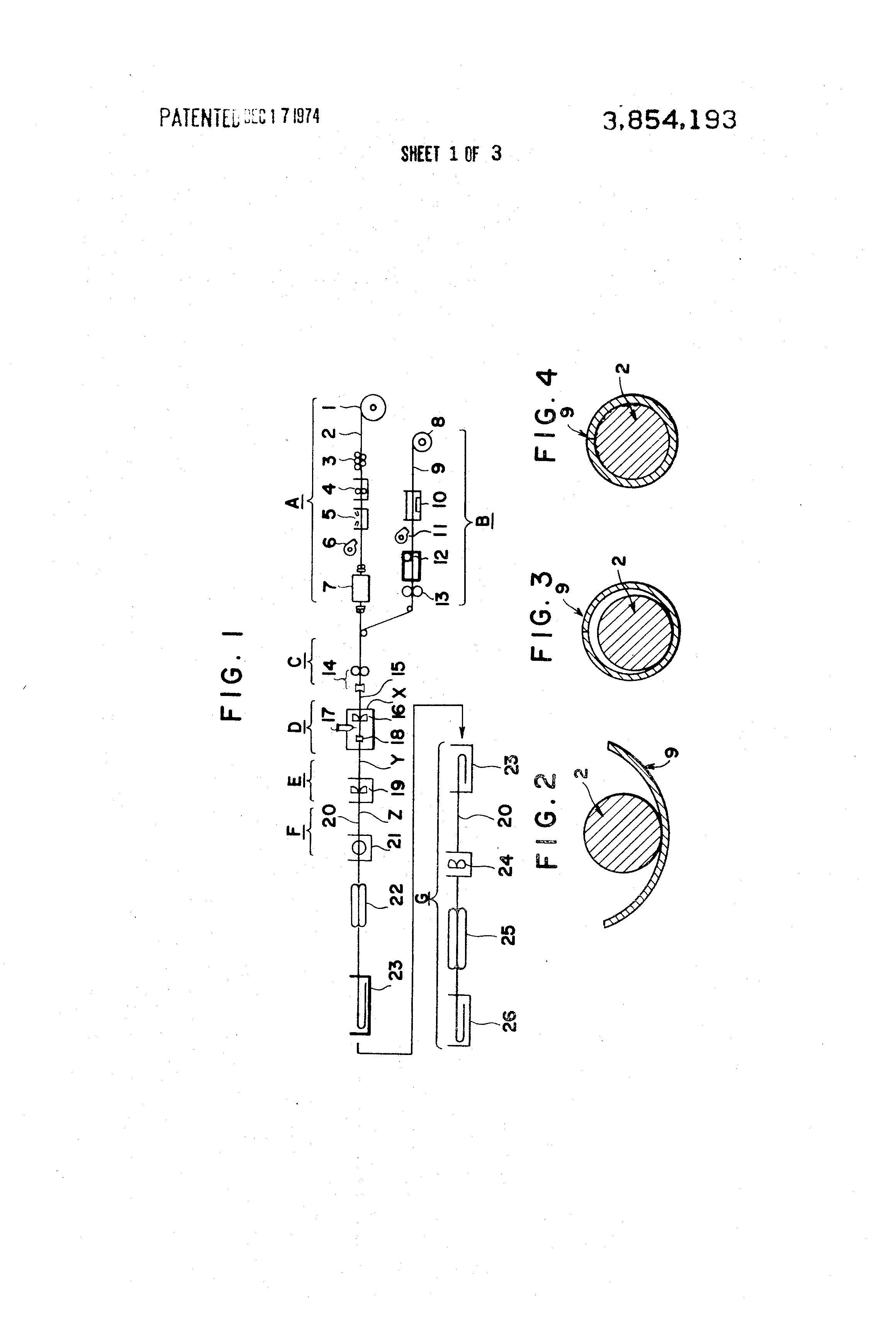patent us3854193 - method of producing copper clad aluminum wire