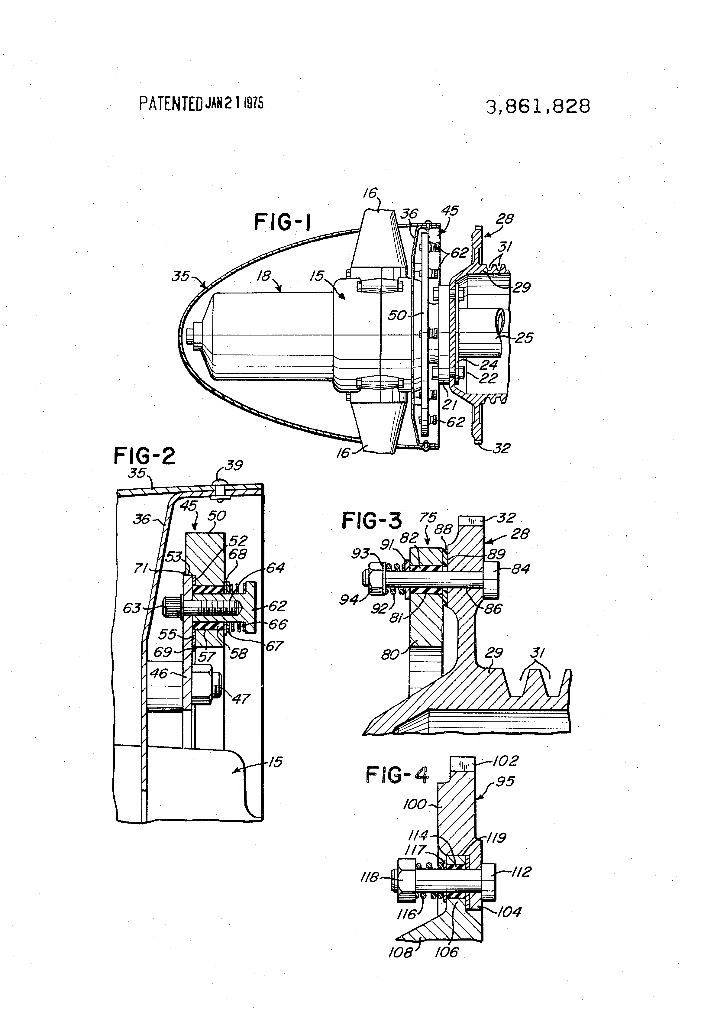 Patent Us3861828 Aircraft Propeller And Vibration Damper