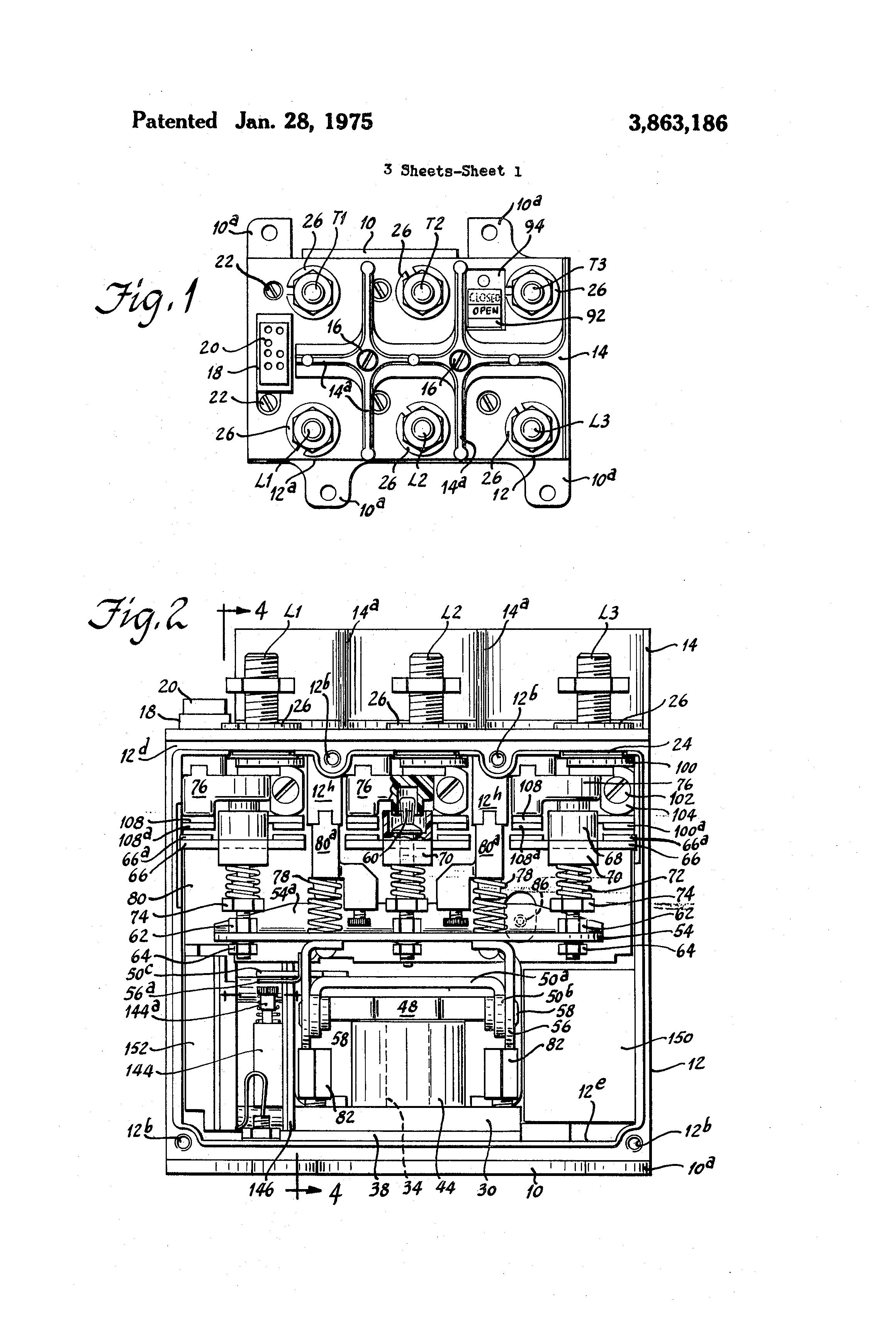 Patent Us3863186 Three Phase Remote Control Circuit