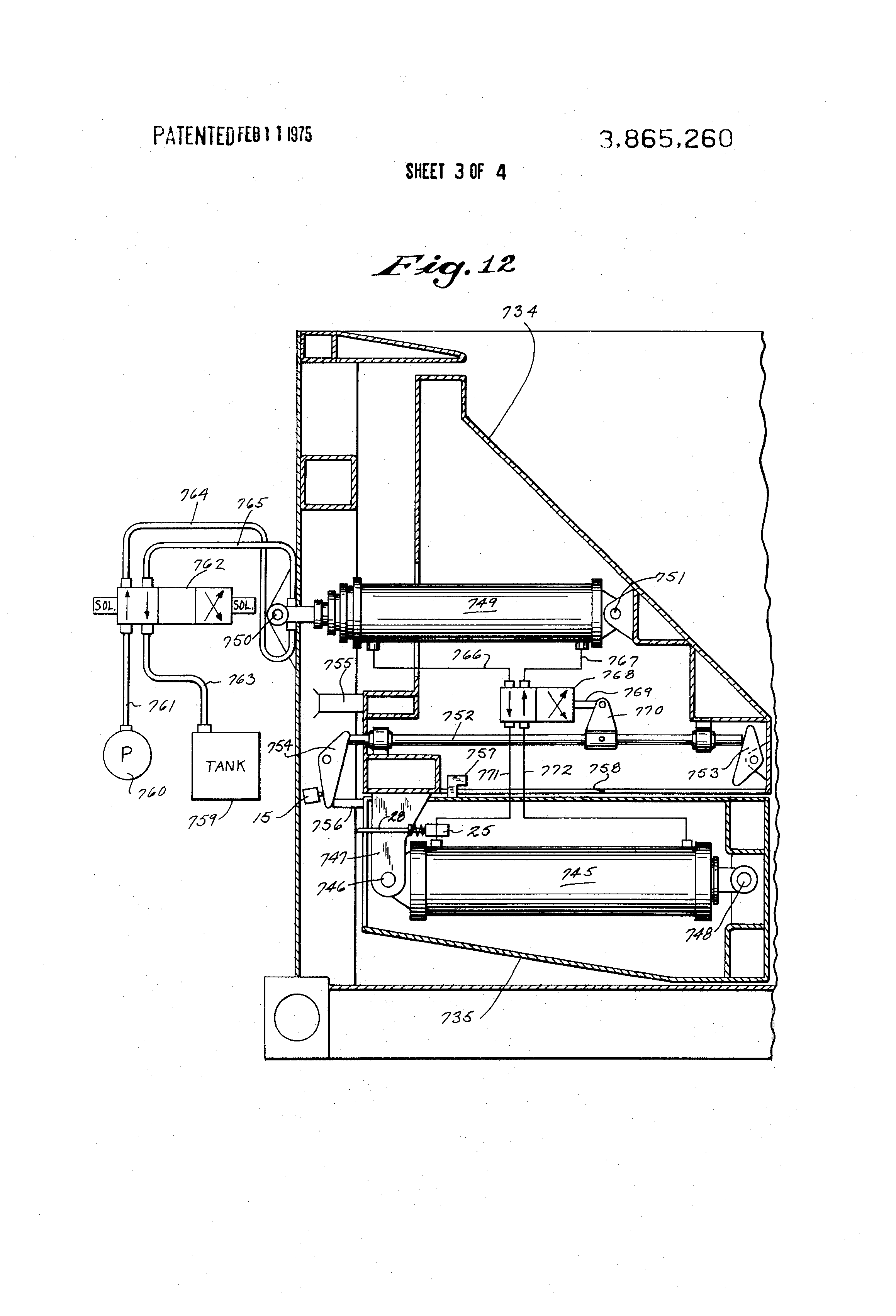US3865260 3 patent us3865260 refuse body with two part packer ejector platen Heil Front Loader Dimension at nearapp.co