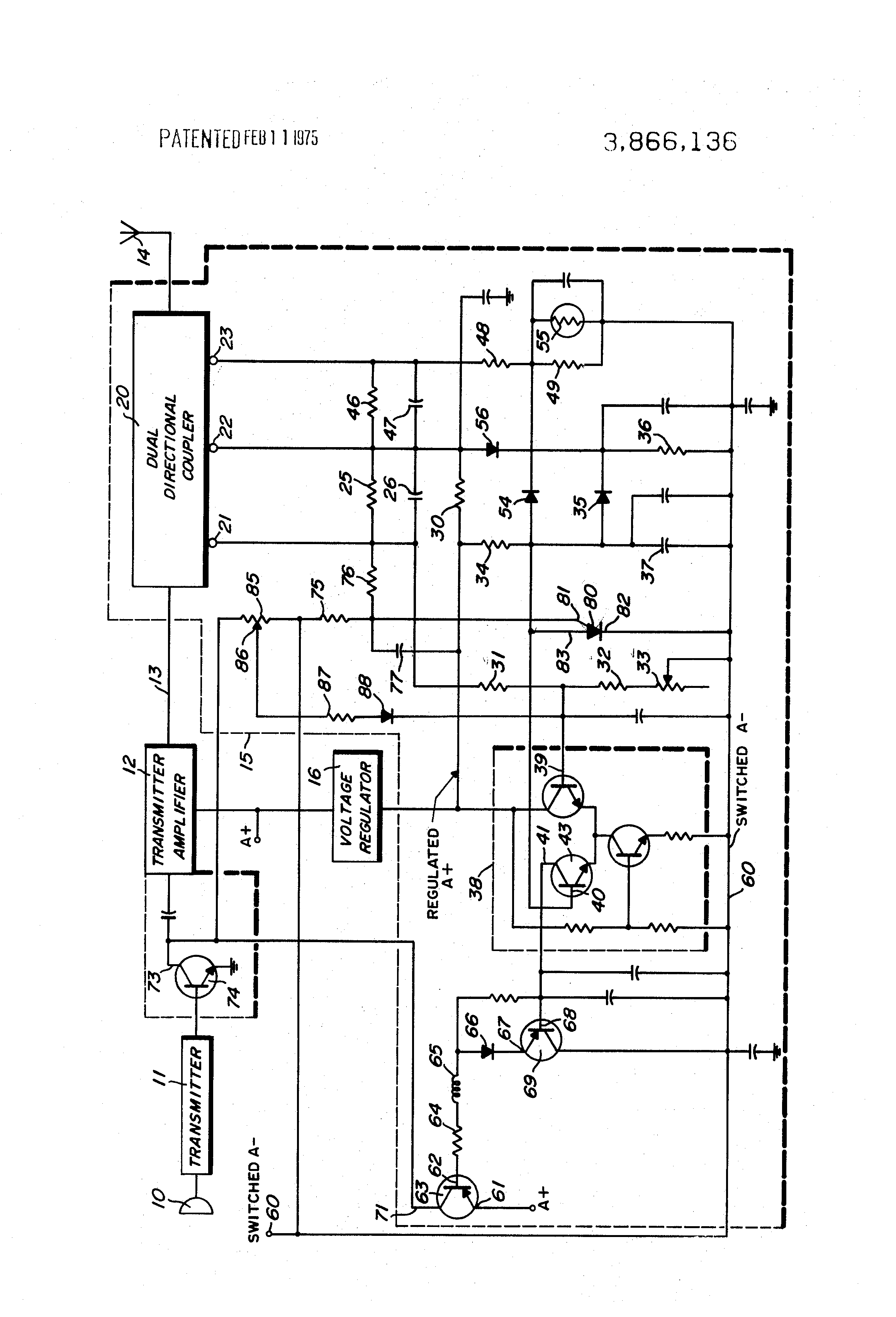 Patent Us3866136 Amplifier Protection Circuit Google Patents 386 Audio Drawing