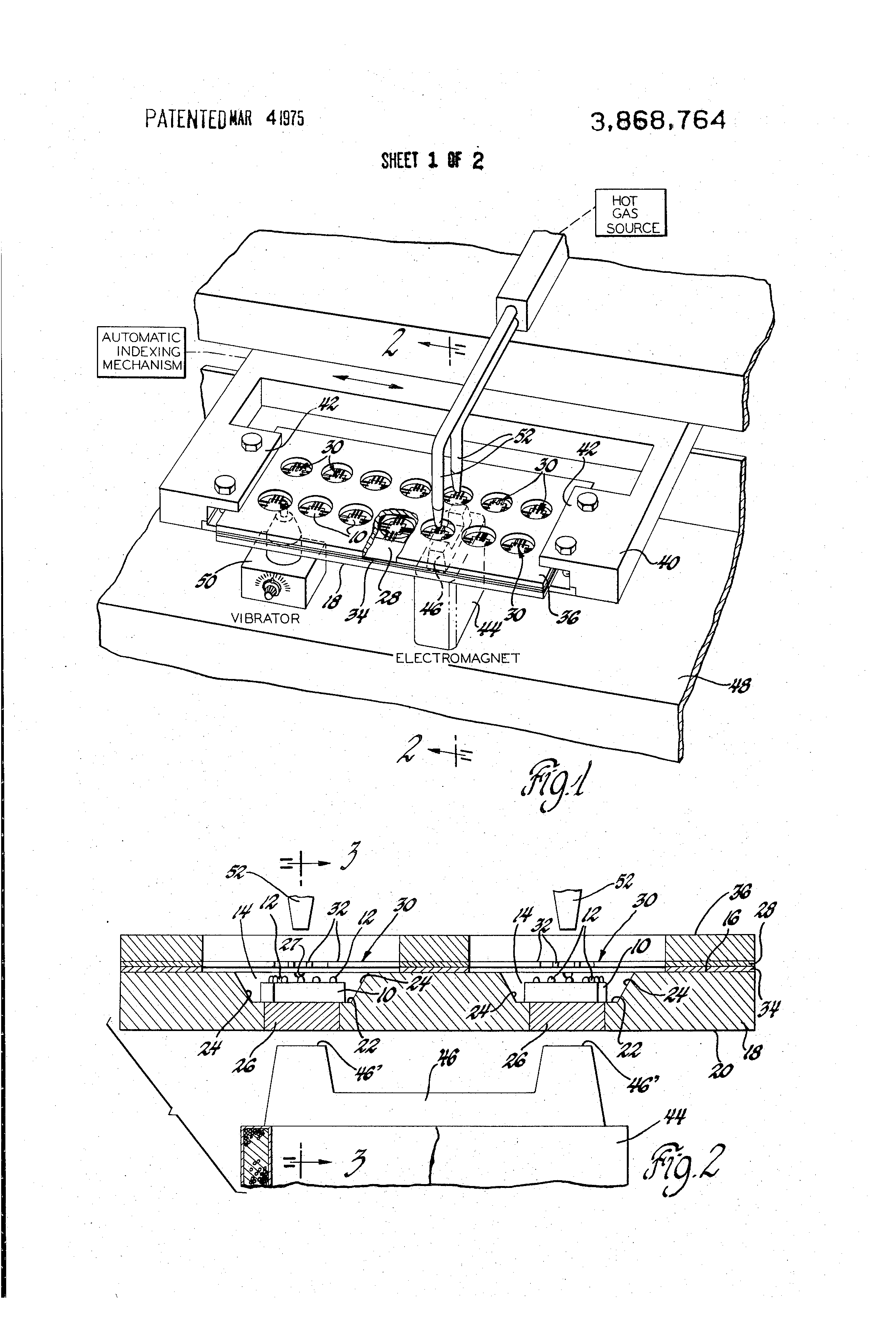 Patent US3868764 - Multiple magnetic alignment of