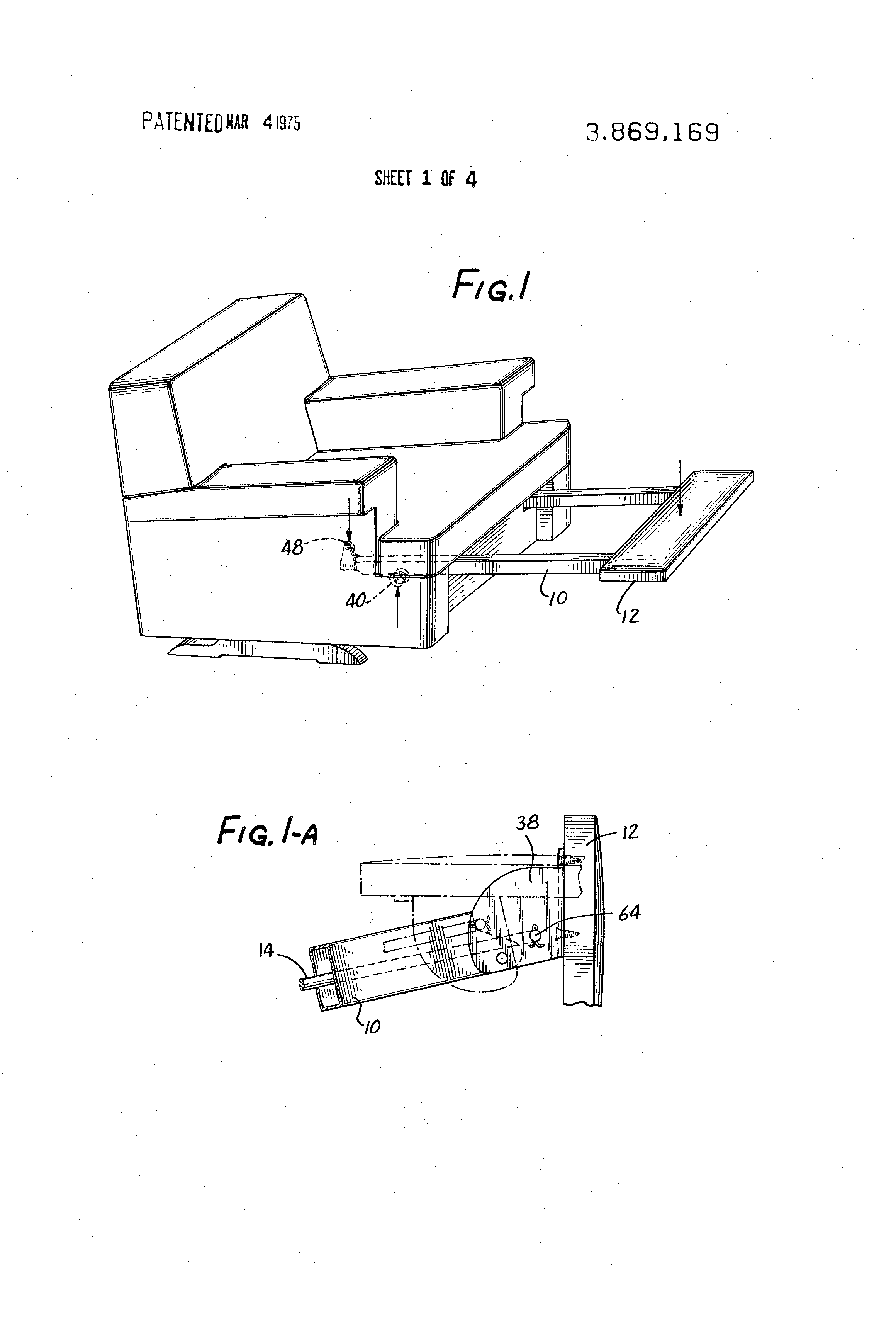 Patent Drawing  sc 1 st  Google & Patent US3869169 - Retractable footrest mechanism - Google Patents islam-shia.org