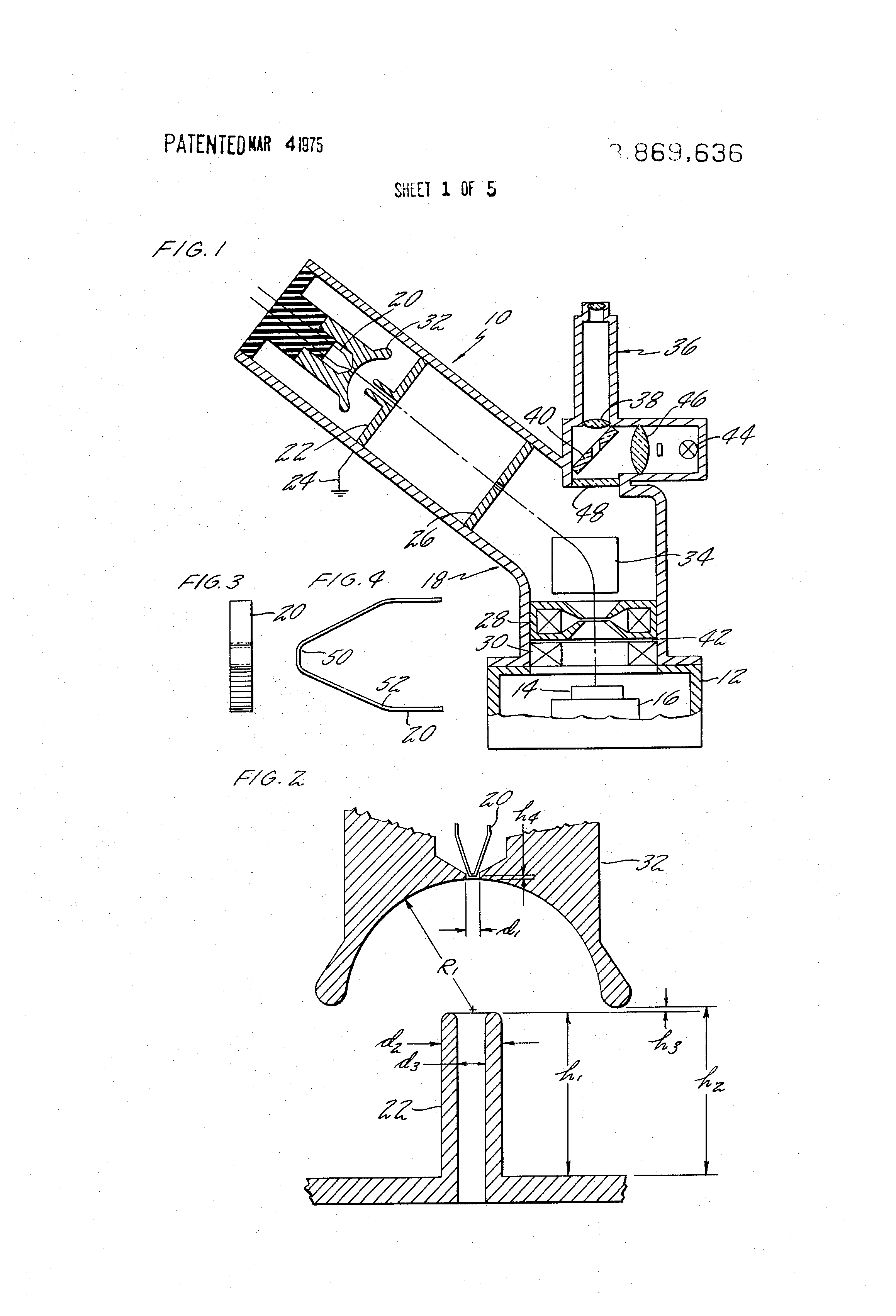 Electron Gun Assembly : Patent us filament for electron guns google