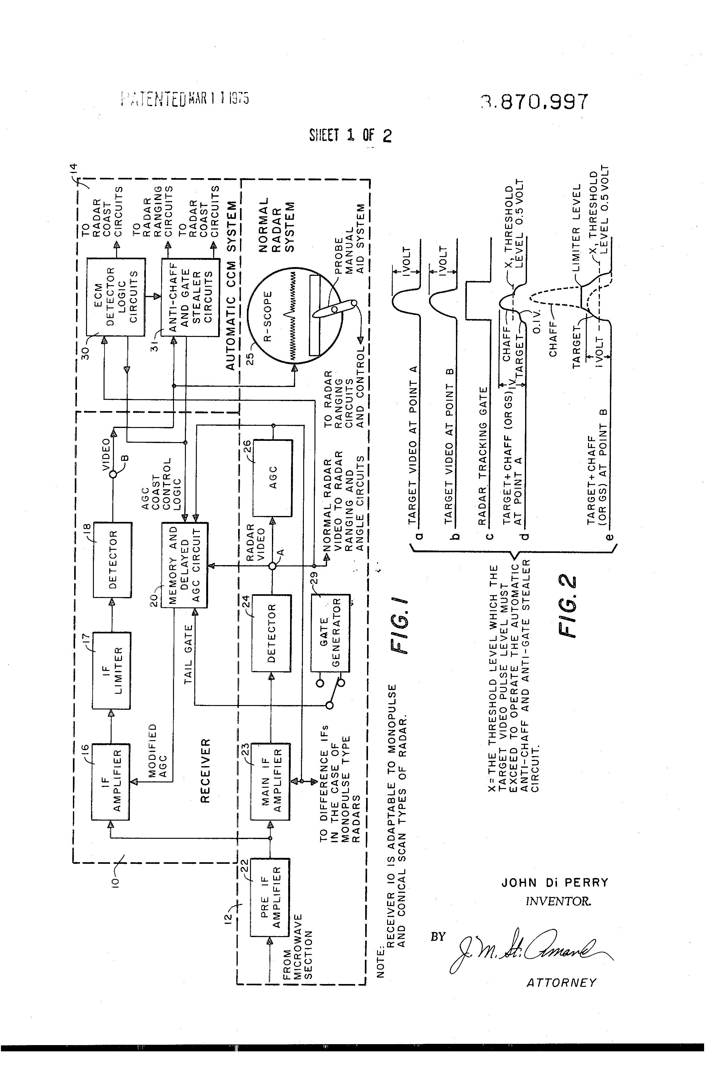 Patent US3870997 - Automatic gain integrator control