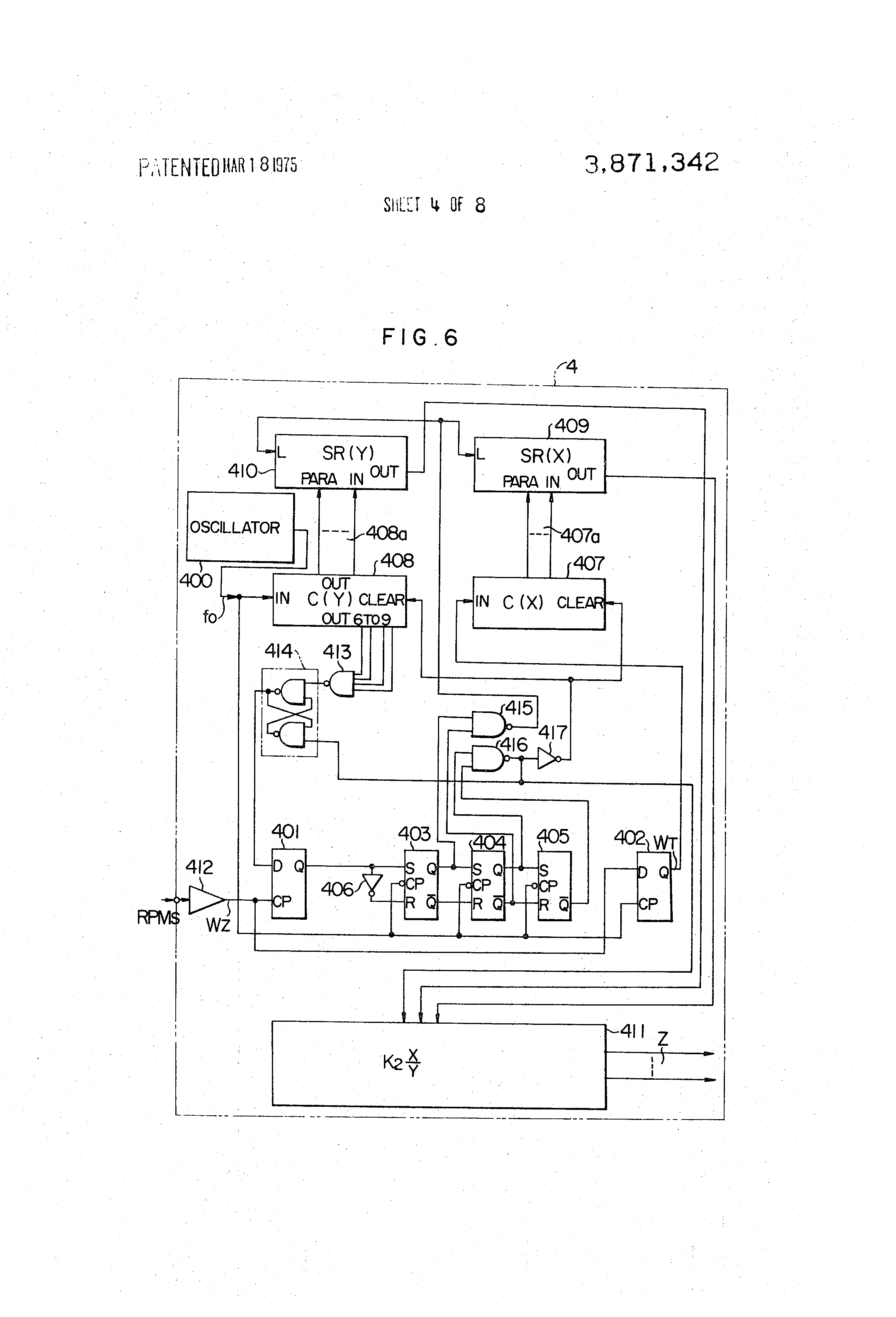 US3871342 4 patent us3871342 electronic ignition timing control circuit for lumenition ignition wiring diagram at gsmx.co