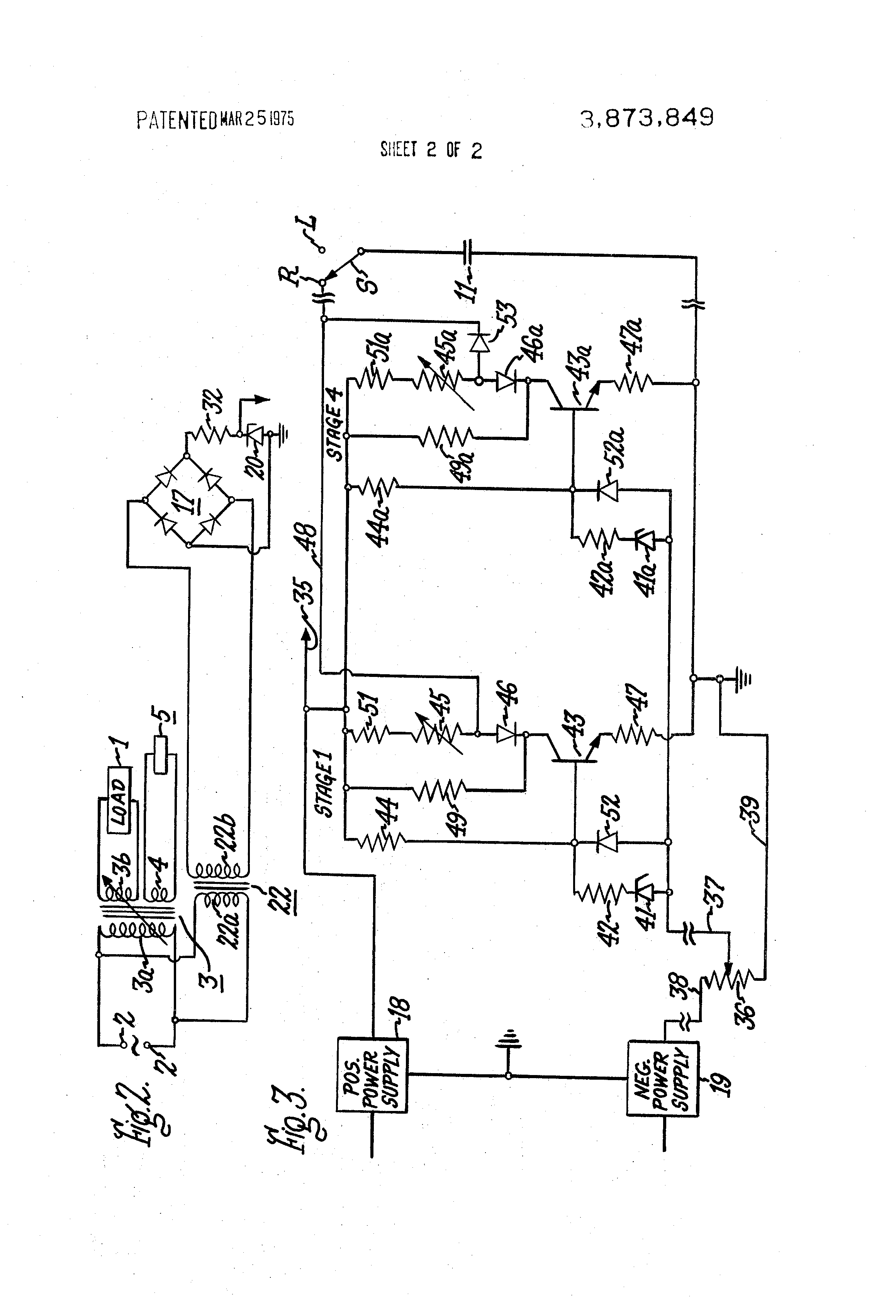 Patent Us3873849 Remote Control Circuit For Constant Current This Uses A Series Of Transistors With An Rc Pair To Pulse Drawing