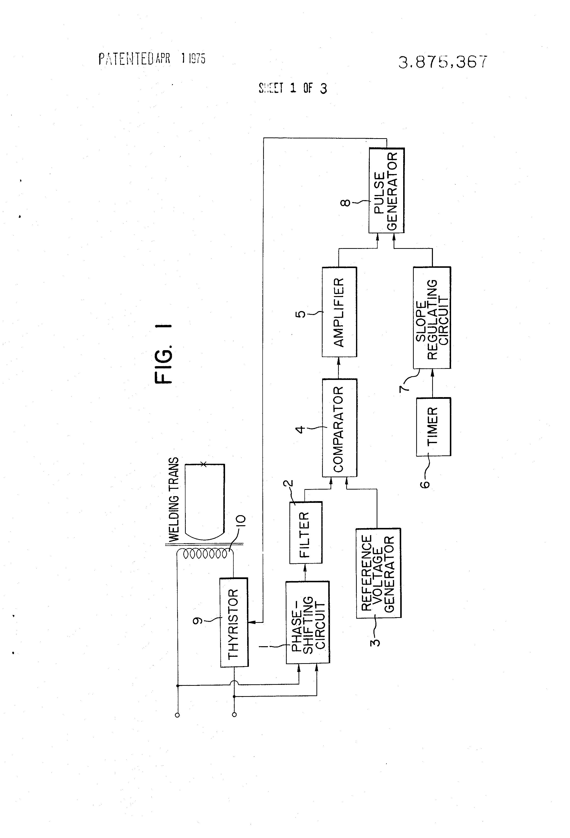 Patent Us3875367 Ac Power Source Voltage Regulator Including Pulse Generator Circuit Diagram Drawing