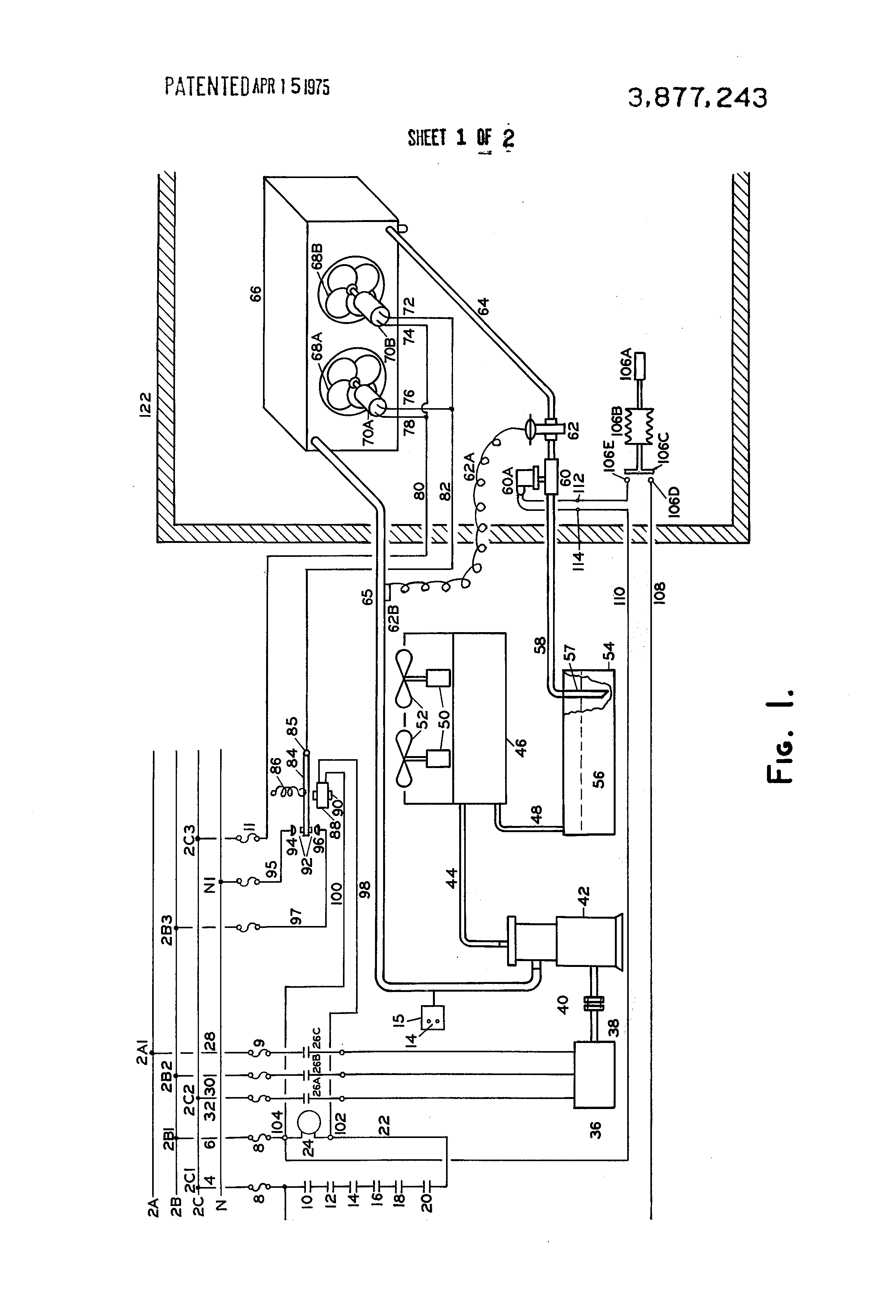 Kramer Refrigeration Wiring Diagram Library Patent Us3877243 Systems Including Evaporator With 2 Drawing