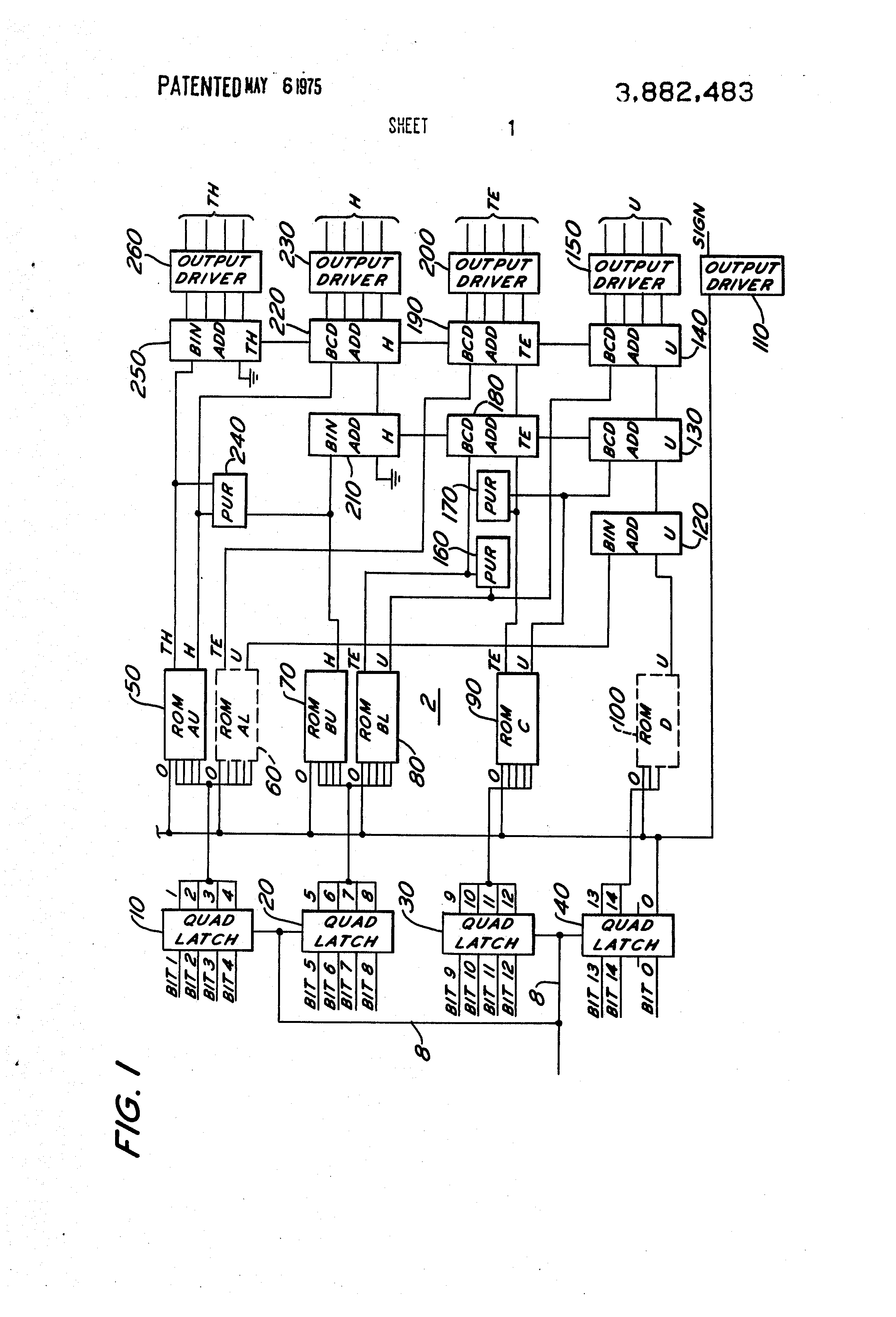 Patent Us3882483 Code Converter System And Method Google Patents Logic Diagram Of Bcd Adder Drawing