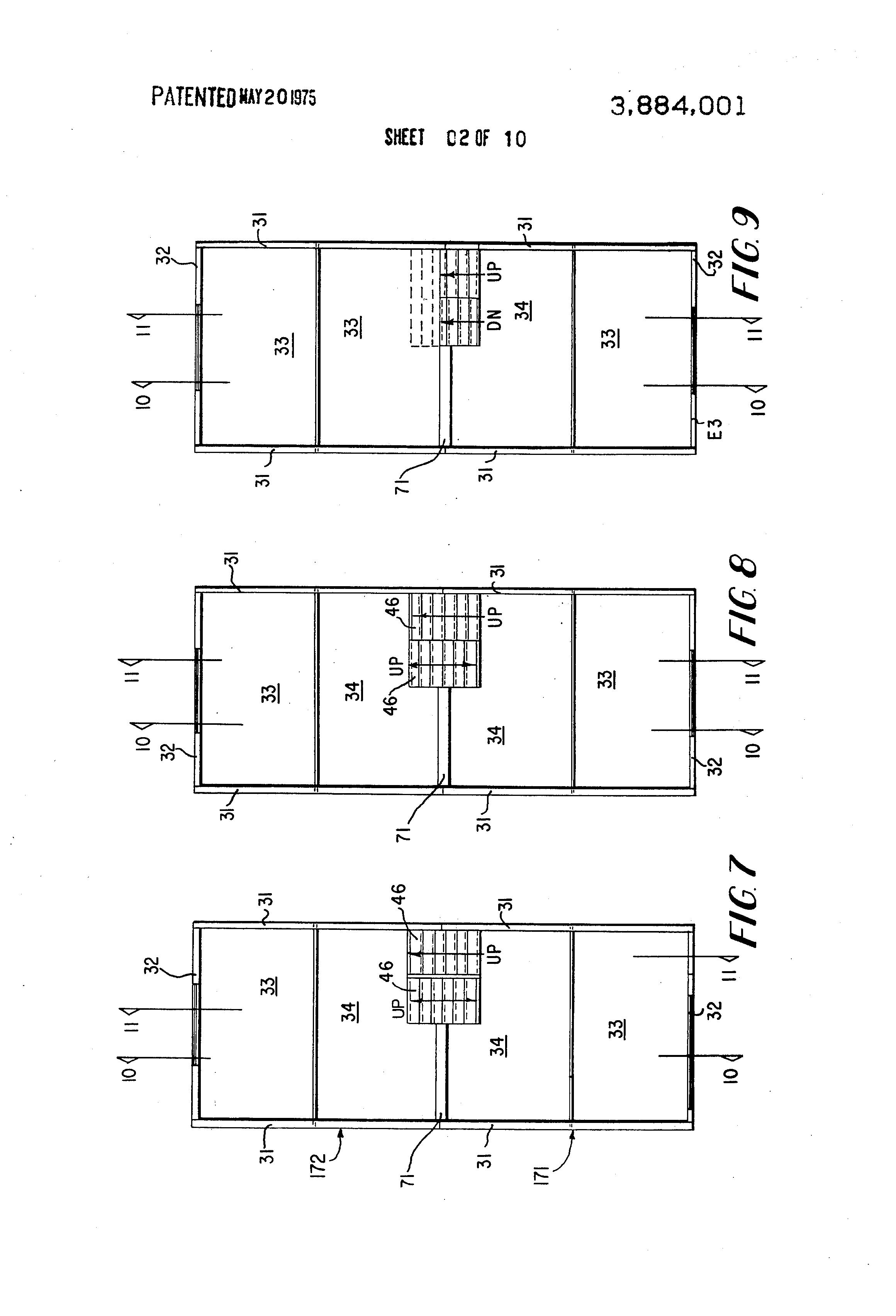 patent us3884001 - split-level townhouse