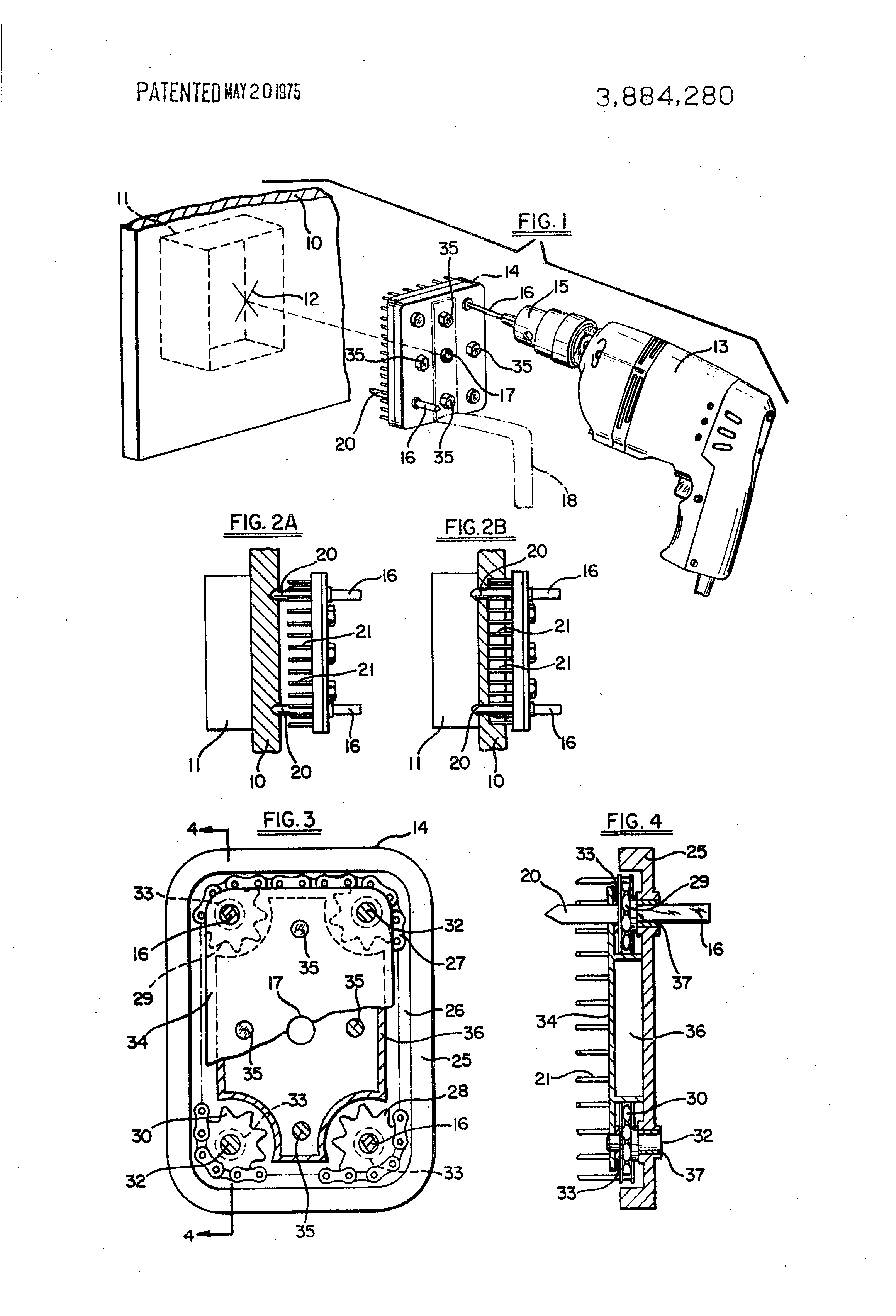 Patent US3884280 - Wall outlet and switch box hole cutter - Google ...