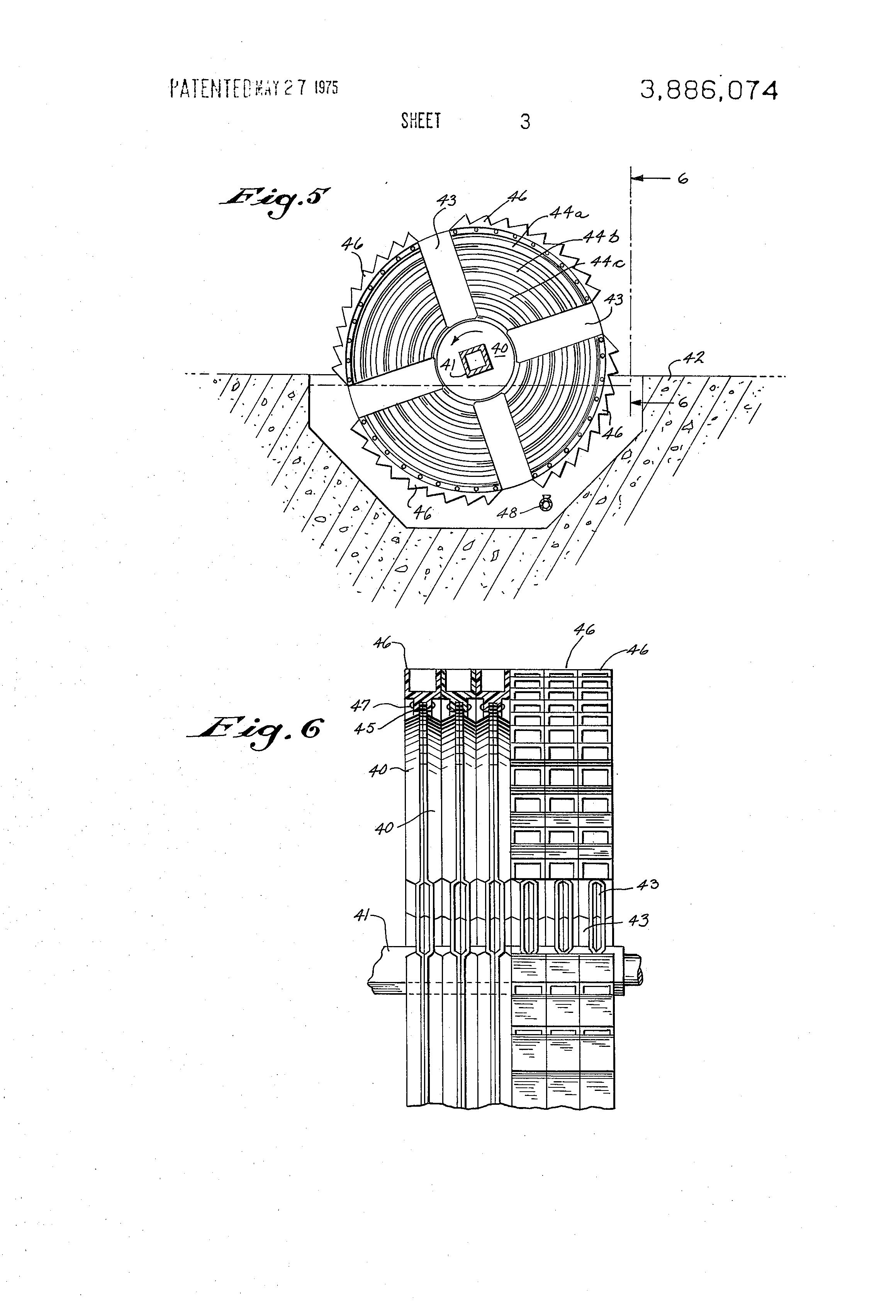 patent us3886074 - air driven rotating biological contactor apparatus