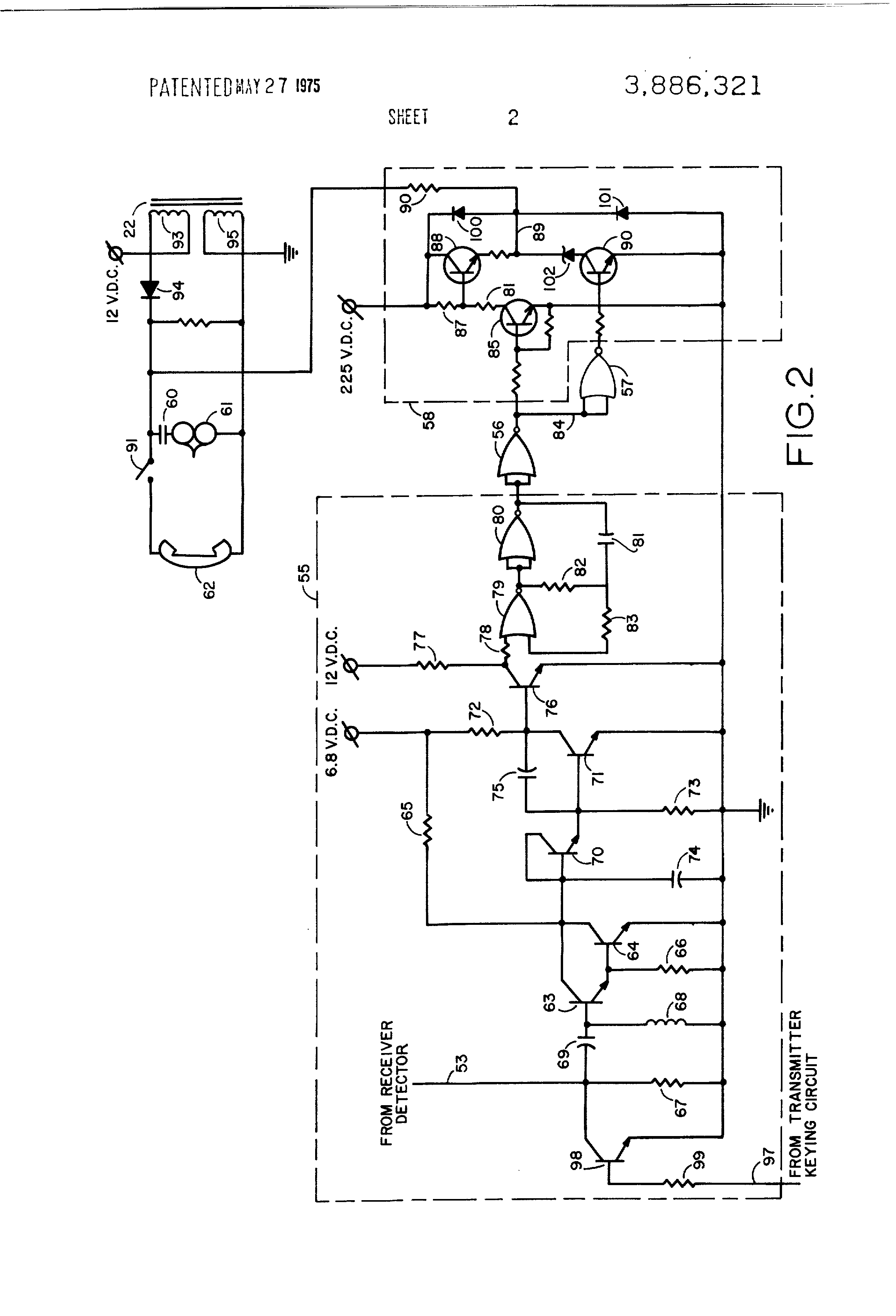 Patent Us3886321 Ringing Generator For Telephone Station Terminal Schematic Remote Ringer Drawing
