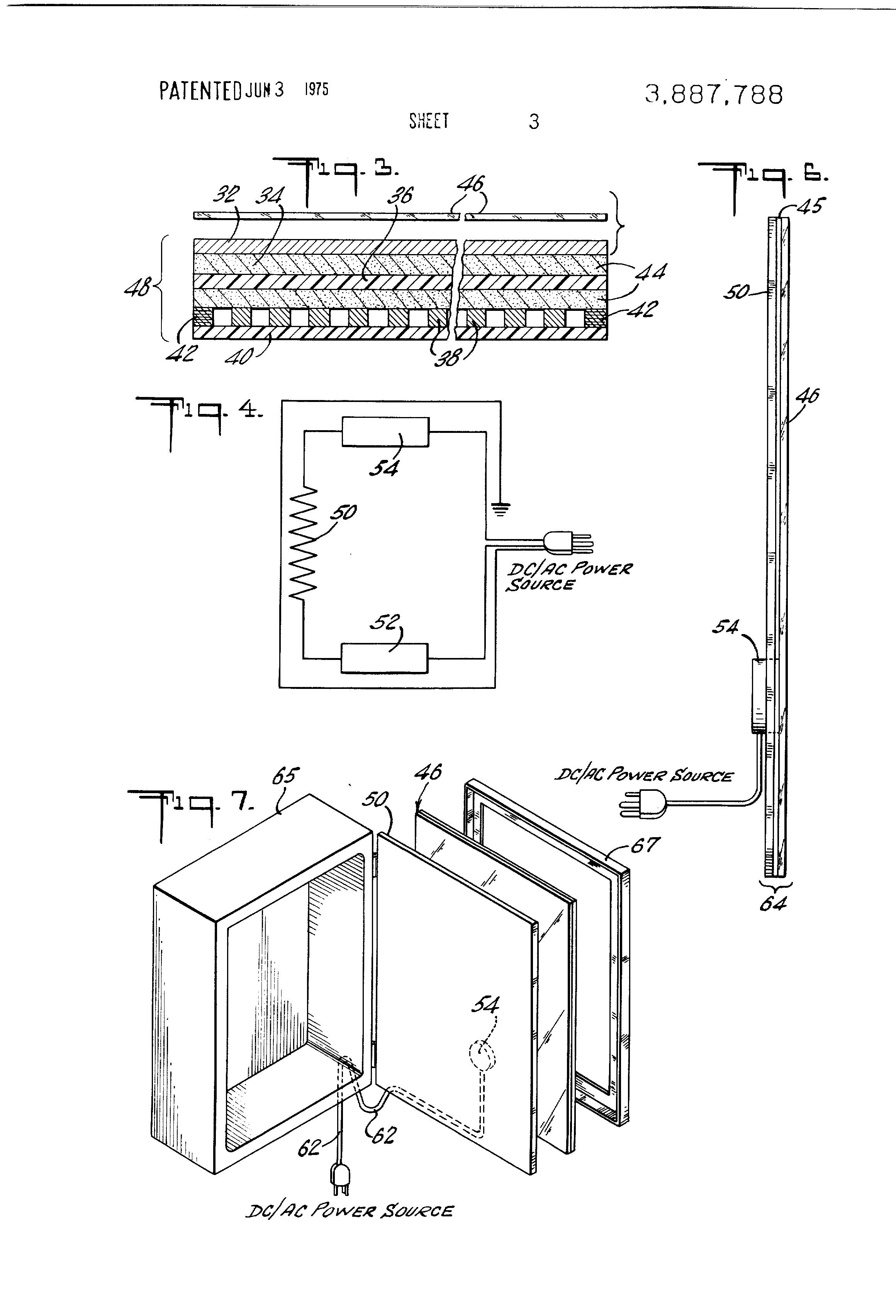patent us3887788 - condensation free mirror