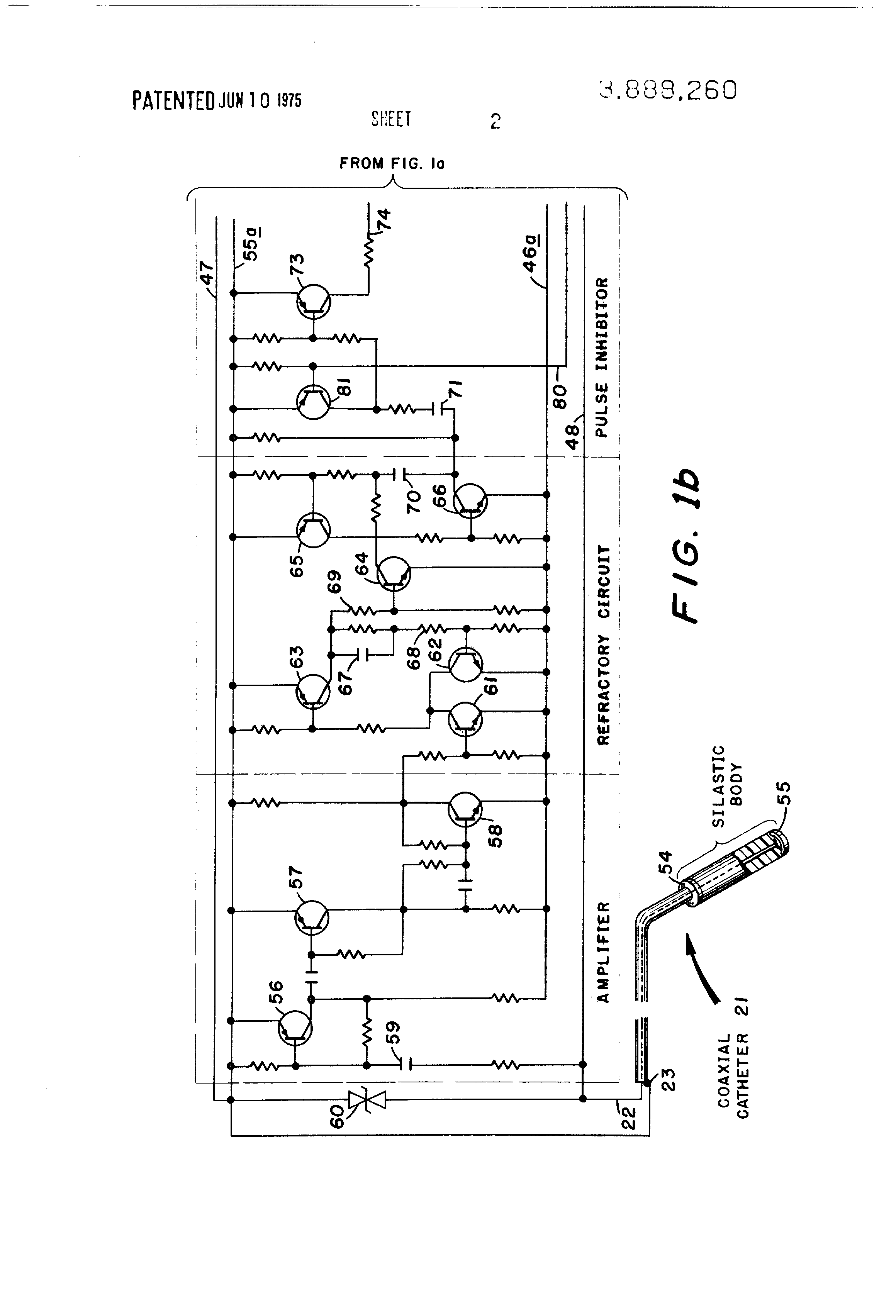 Patent Us3888260 Rechargeable Demand Inhibited Cardiac Pacer And Composite Pipe Rc Bridge Oscillator Oscillatorcircuit Signal Drawing