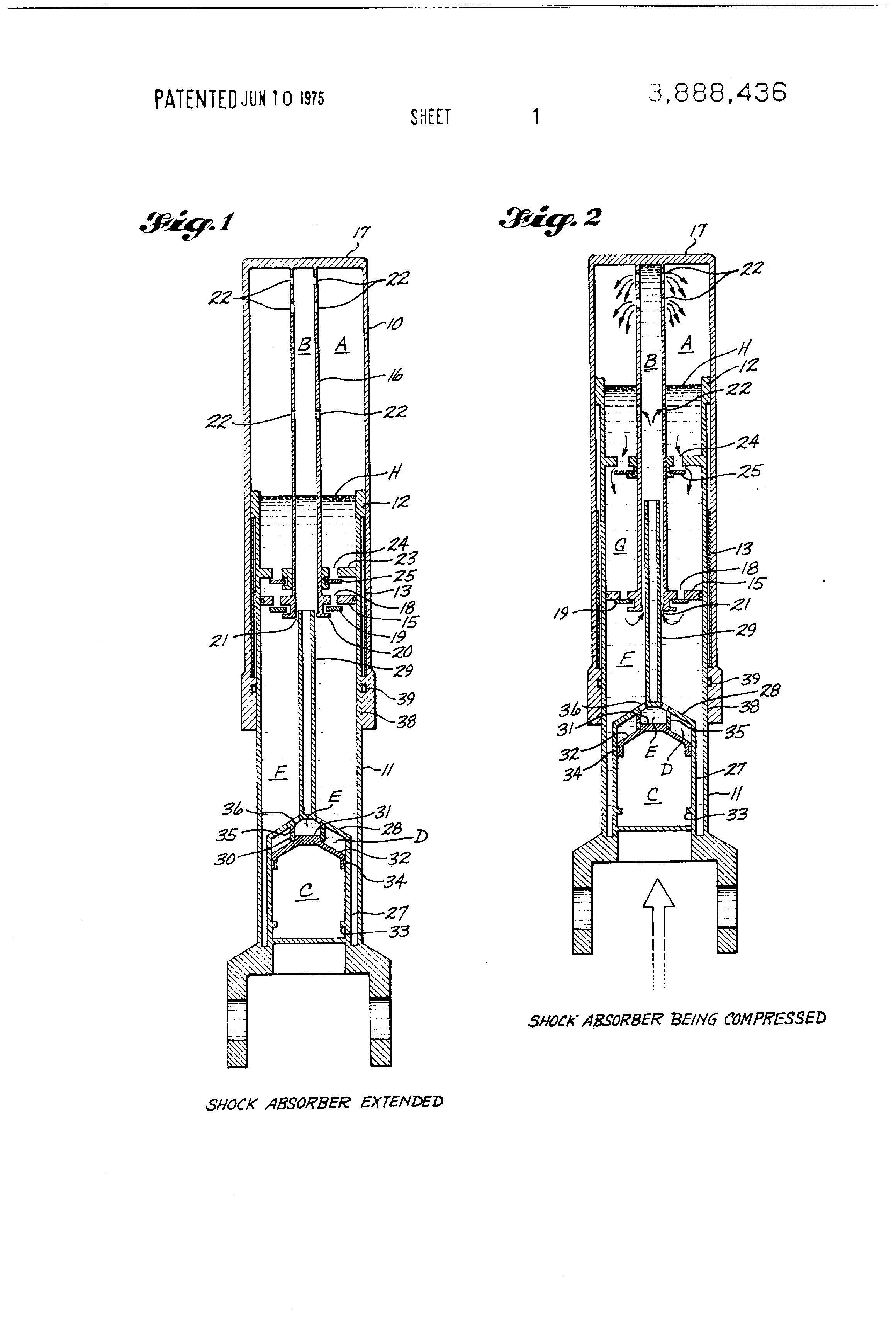 patent us3888436 - airplane landing gear shock absorber - google