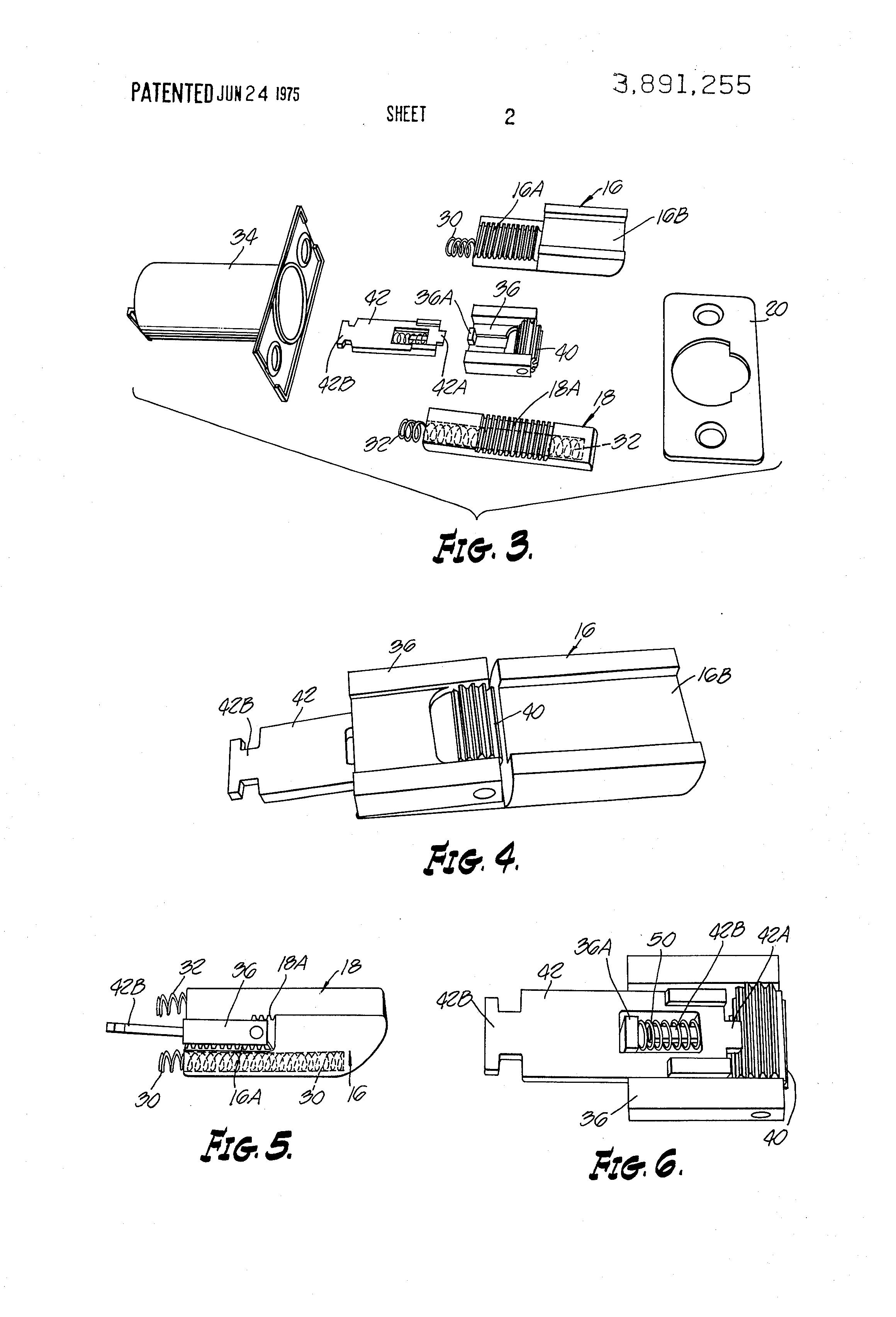 patent us3891255 door lock assembly google patents. Black Bedroom Furniture Sets. Home Design Ideas