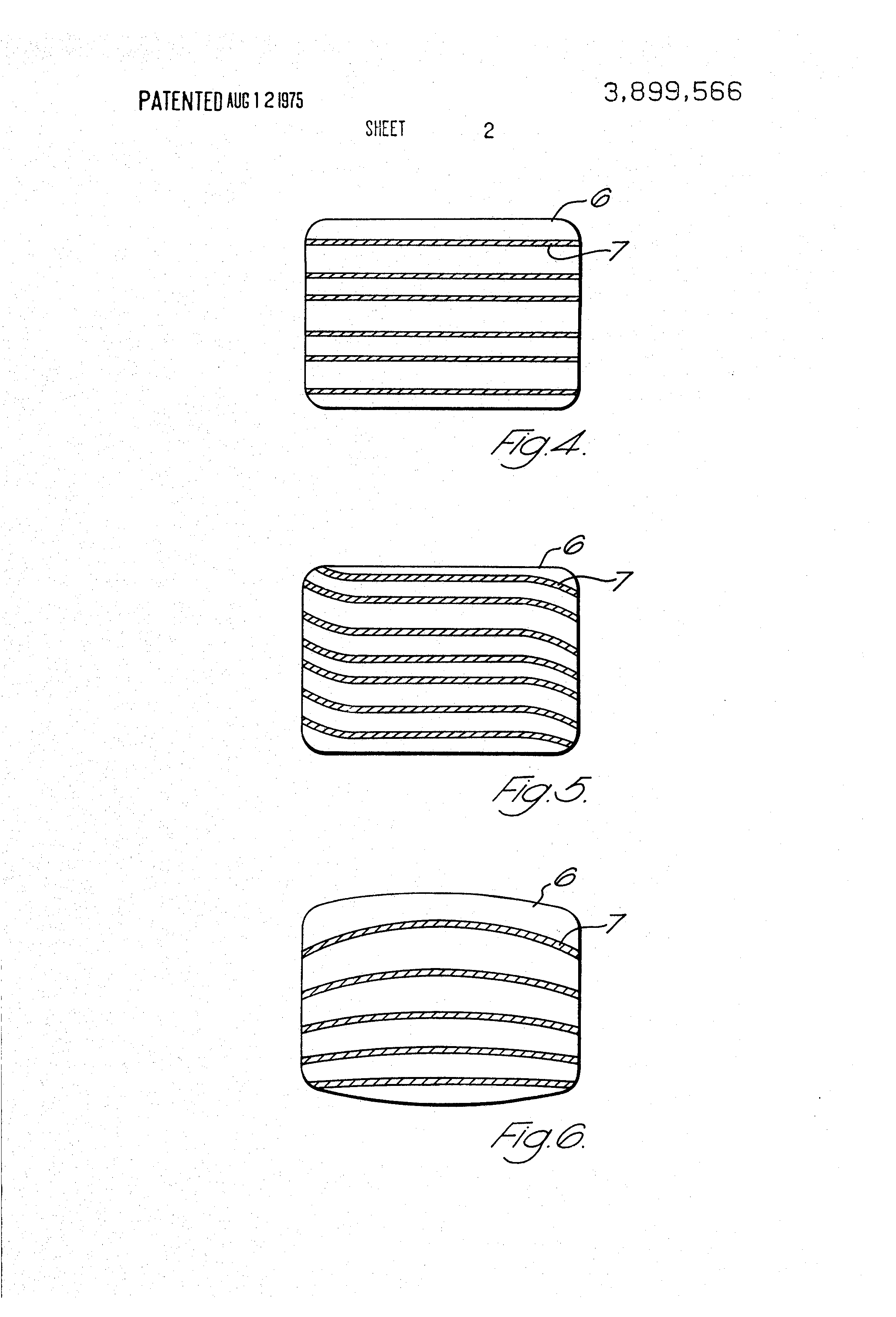 Brevet US3899566 - Process for manufacturing color-striped