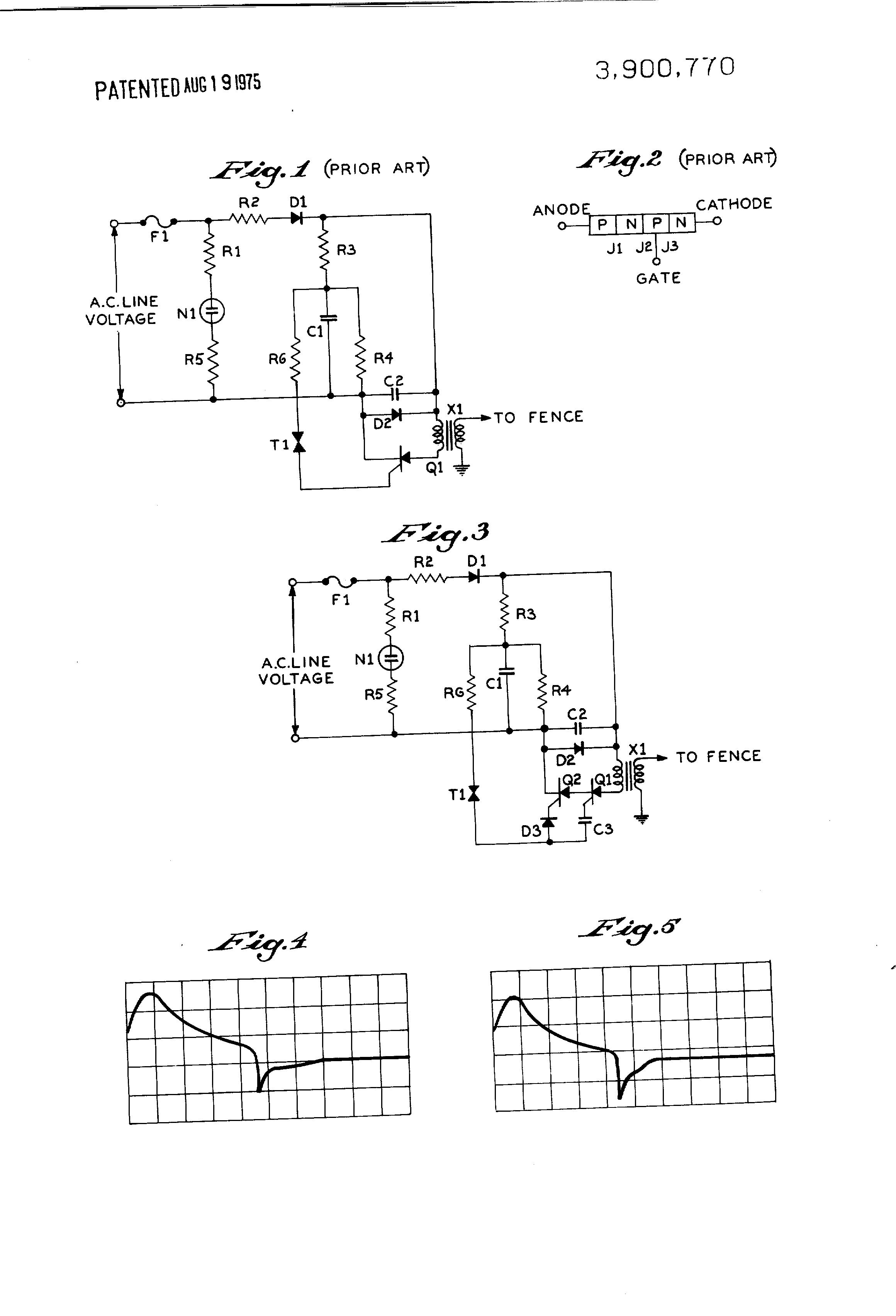 patent us3900770 electric fence shocker circuit google. Black Bedroom Furniture Sets. Home Design Ideas
