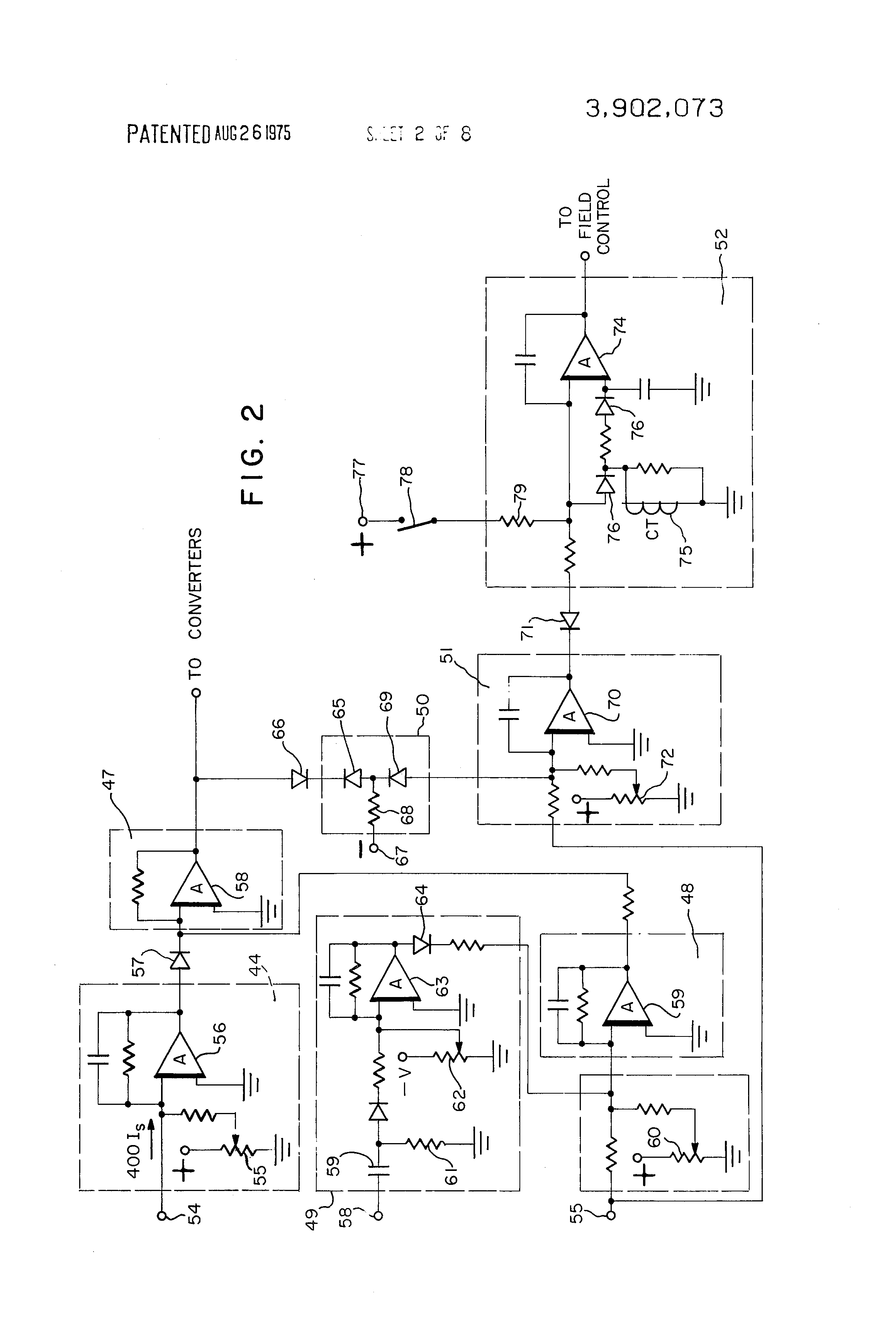 Patent Us3902073 Starter Generator Electrical System Utilizing Dc Motor Speed Control Circuit Besides 3 Phase Scr Rectifier Drawing