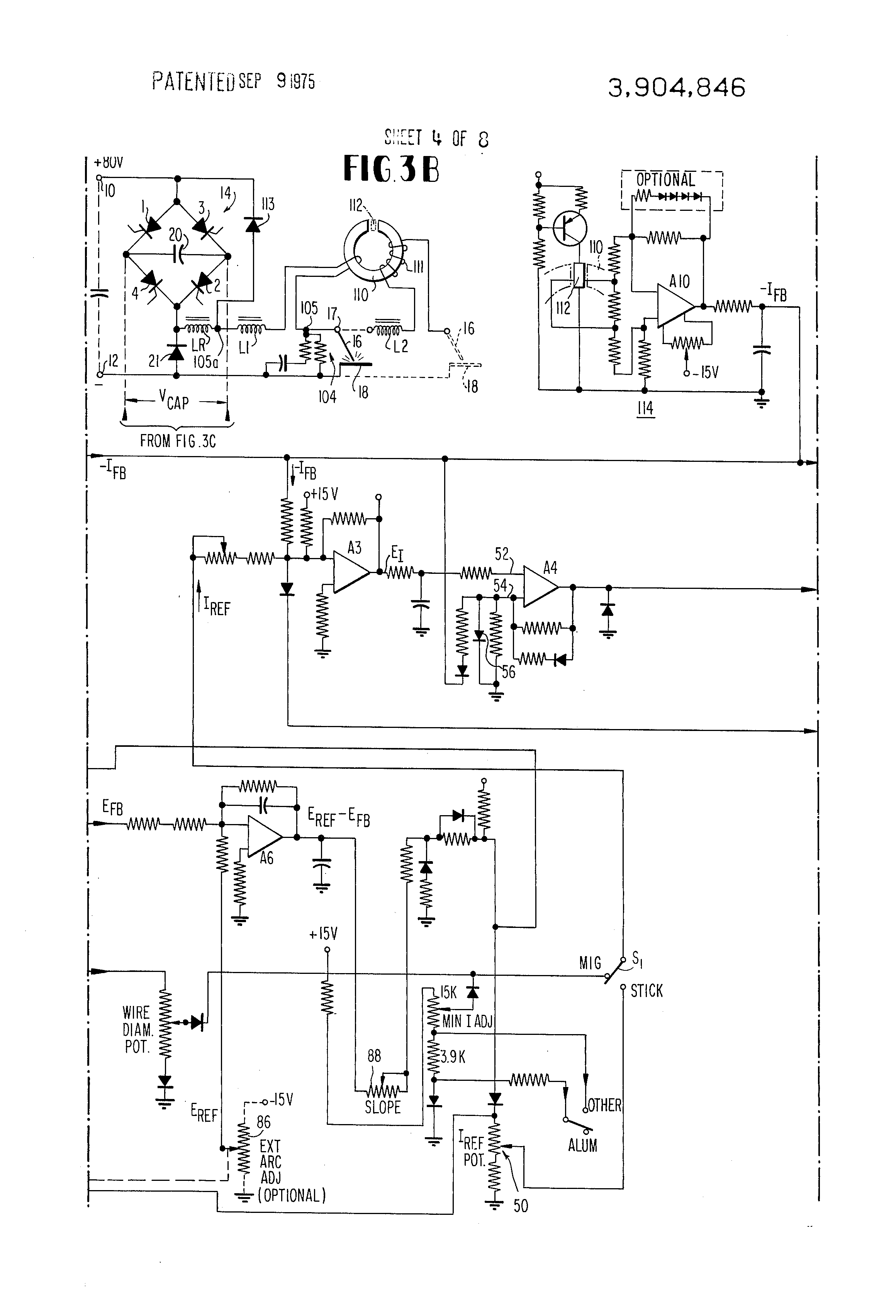 patent us3904846 - adaptive control for arc welding