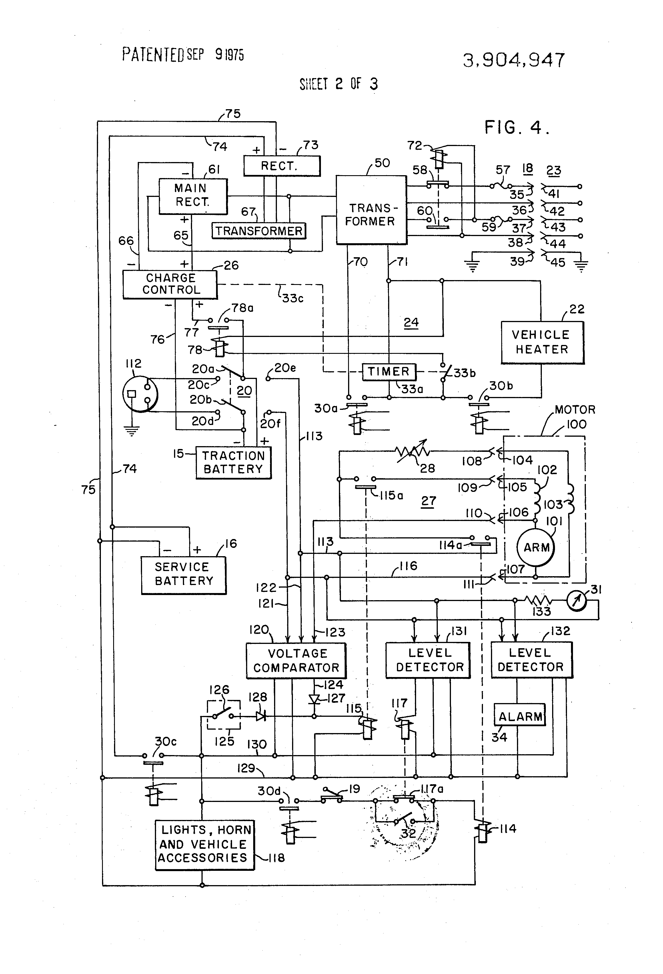 US3904947 2 patent us3904947 vehicle mounted battery charging system for an lester 36 volt battery charger wiring diagram at panicattacktreatment.co