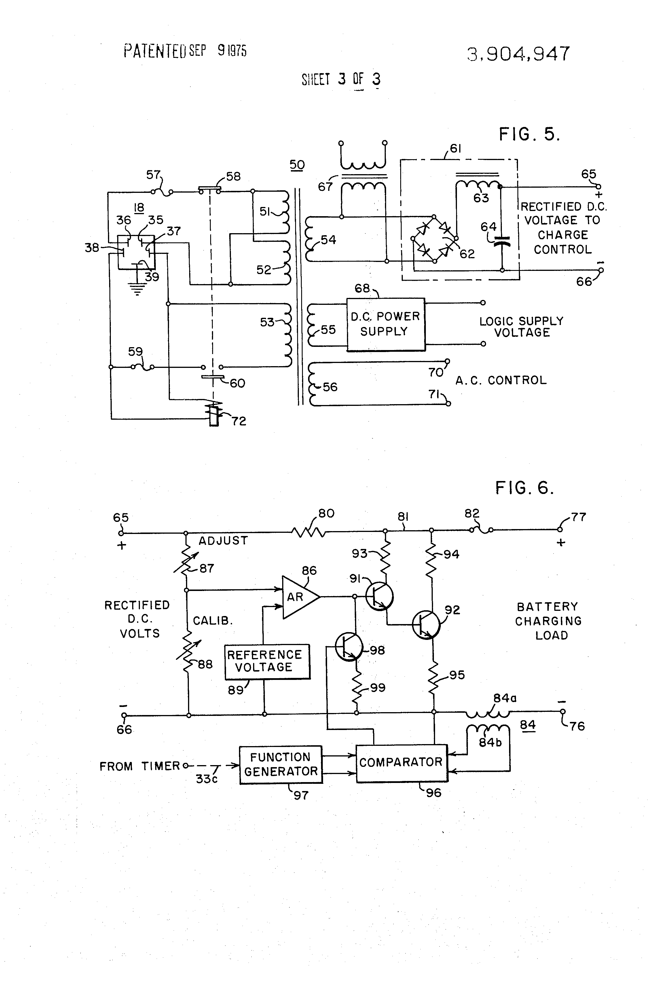 US3904947 3 patent us3904947 vehicle mounted battery charging system for an lester 36 volt battery charger wiring diagram at panicattacktreatment.co