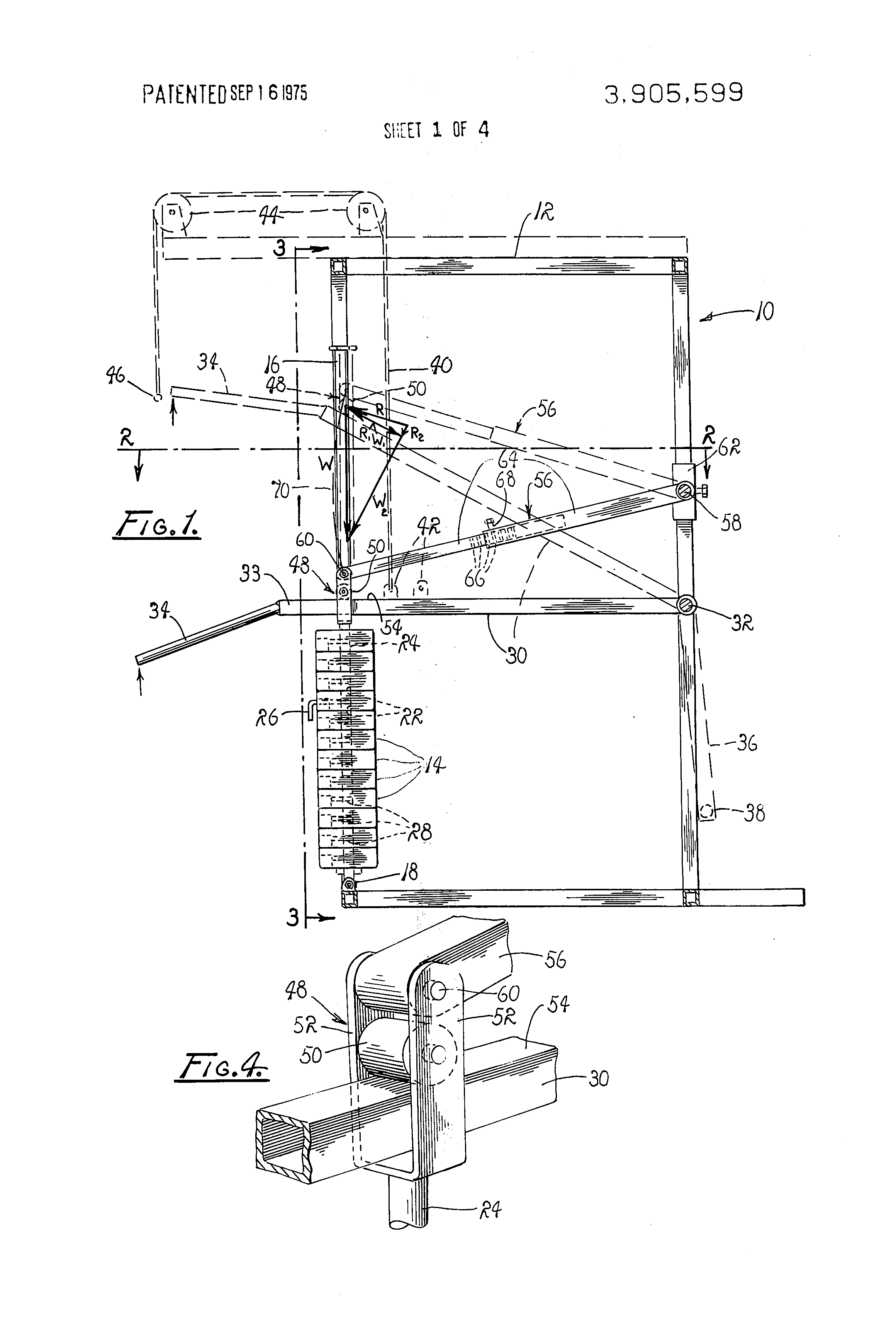 patent us3905599 variable resistance exercising device google