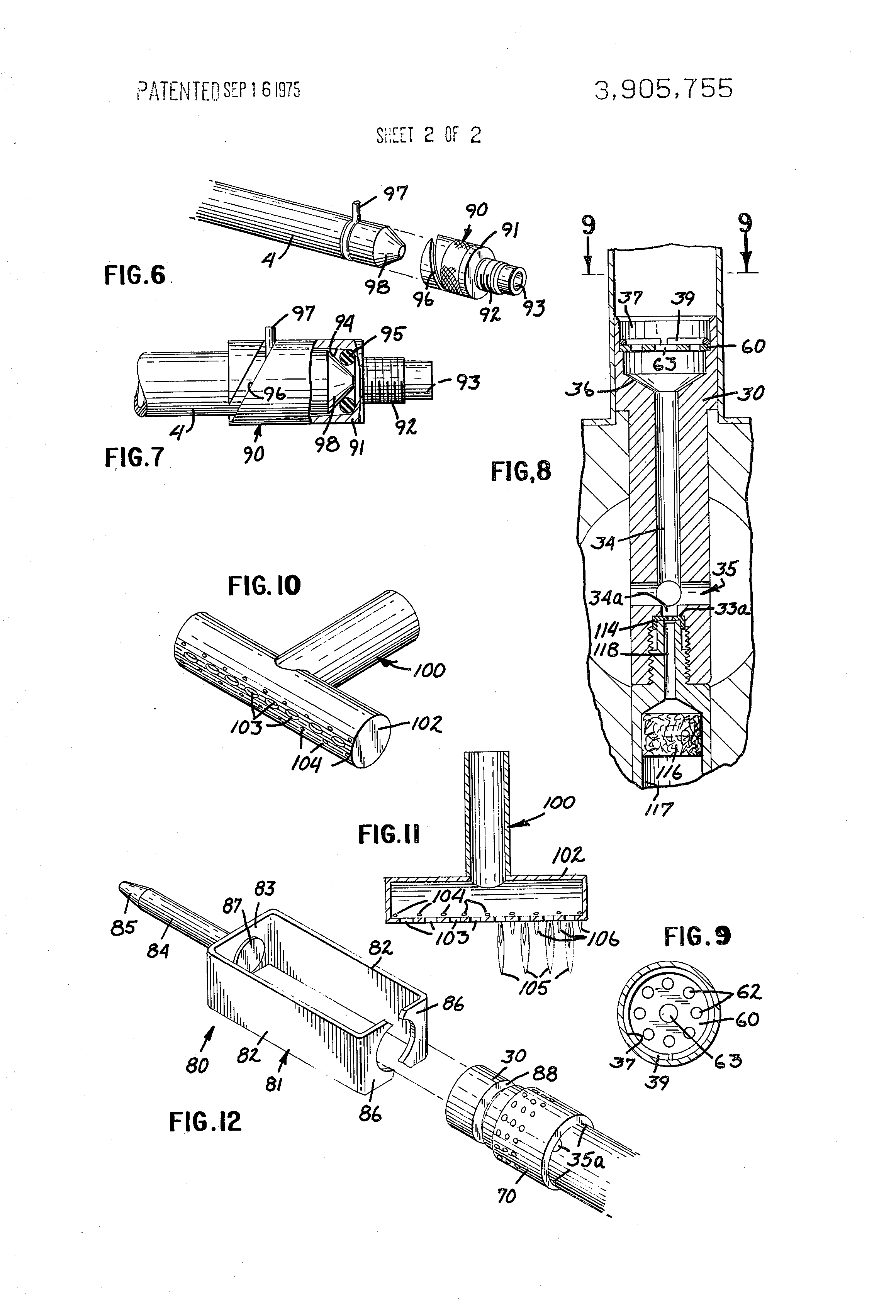 patent us3905755 - miniature blowtorch