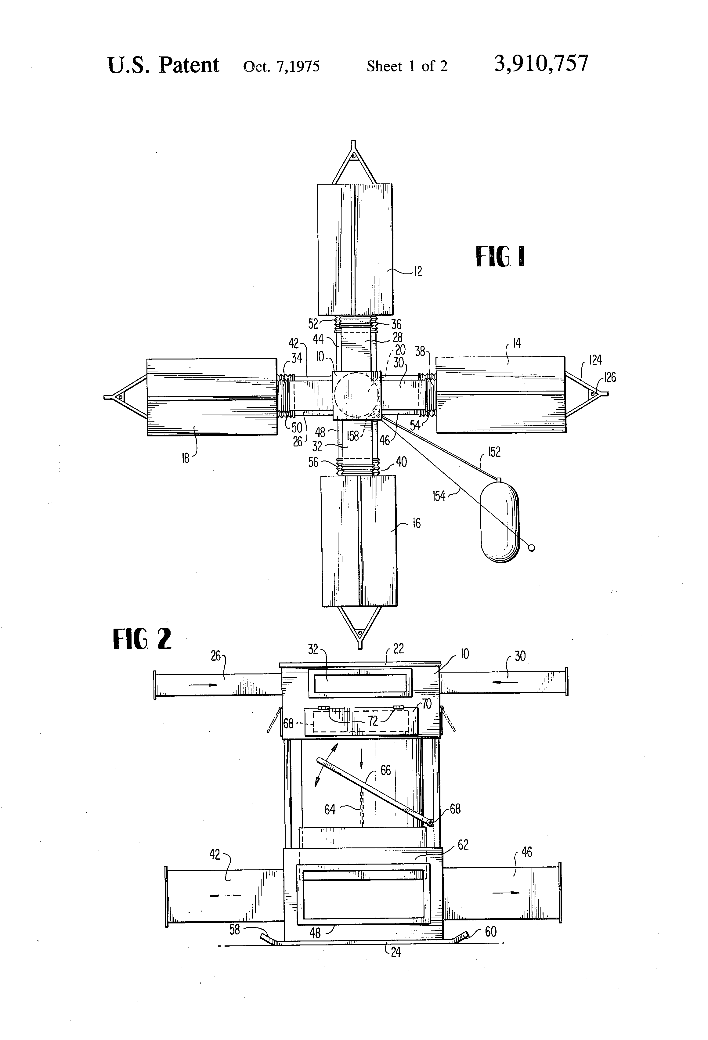 Brevet US3910757 - Mobile tobacco curing and drying system
