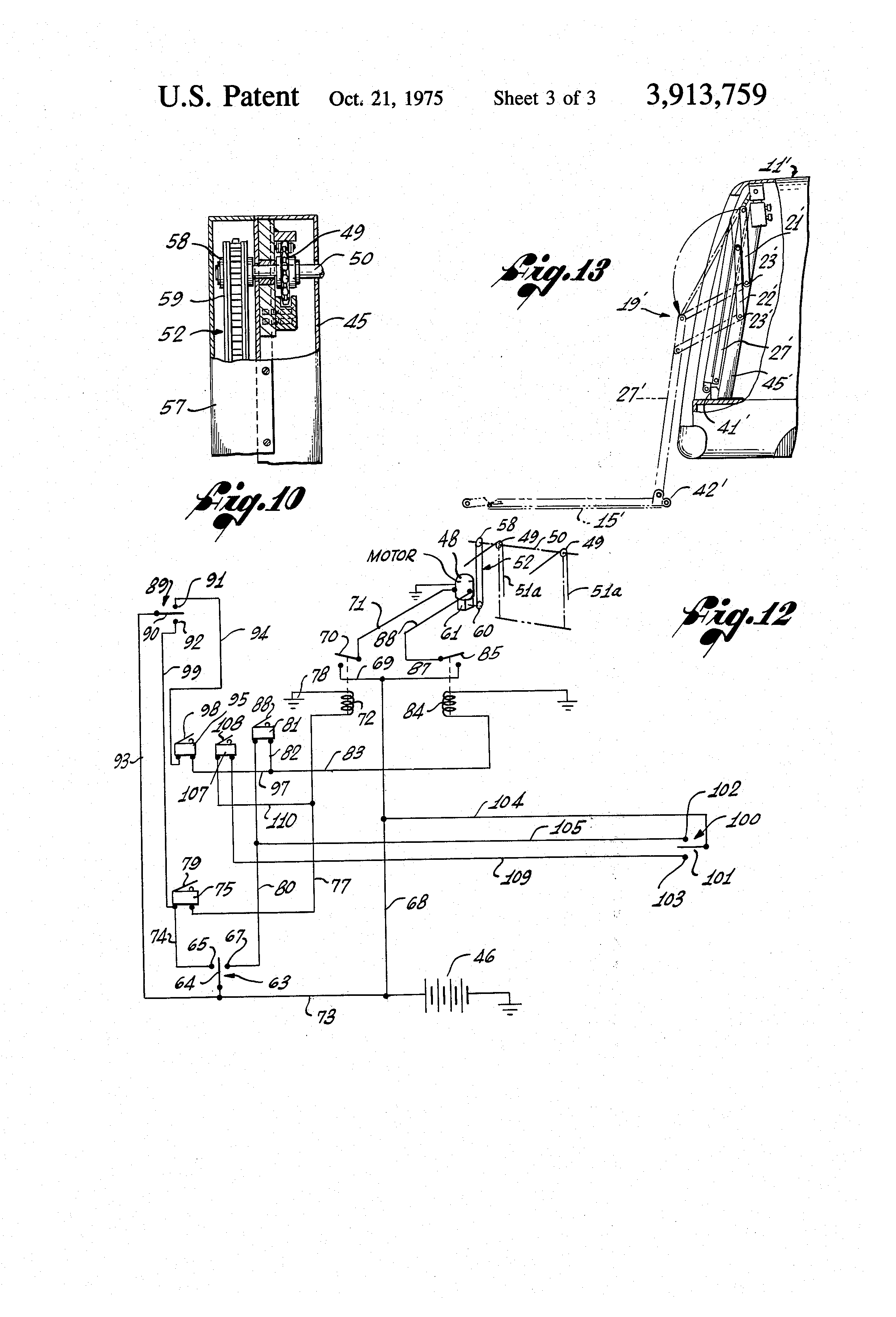 Patent Us3913759 - Wheelchair Lift