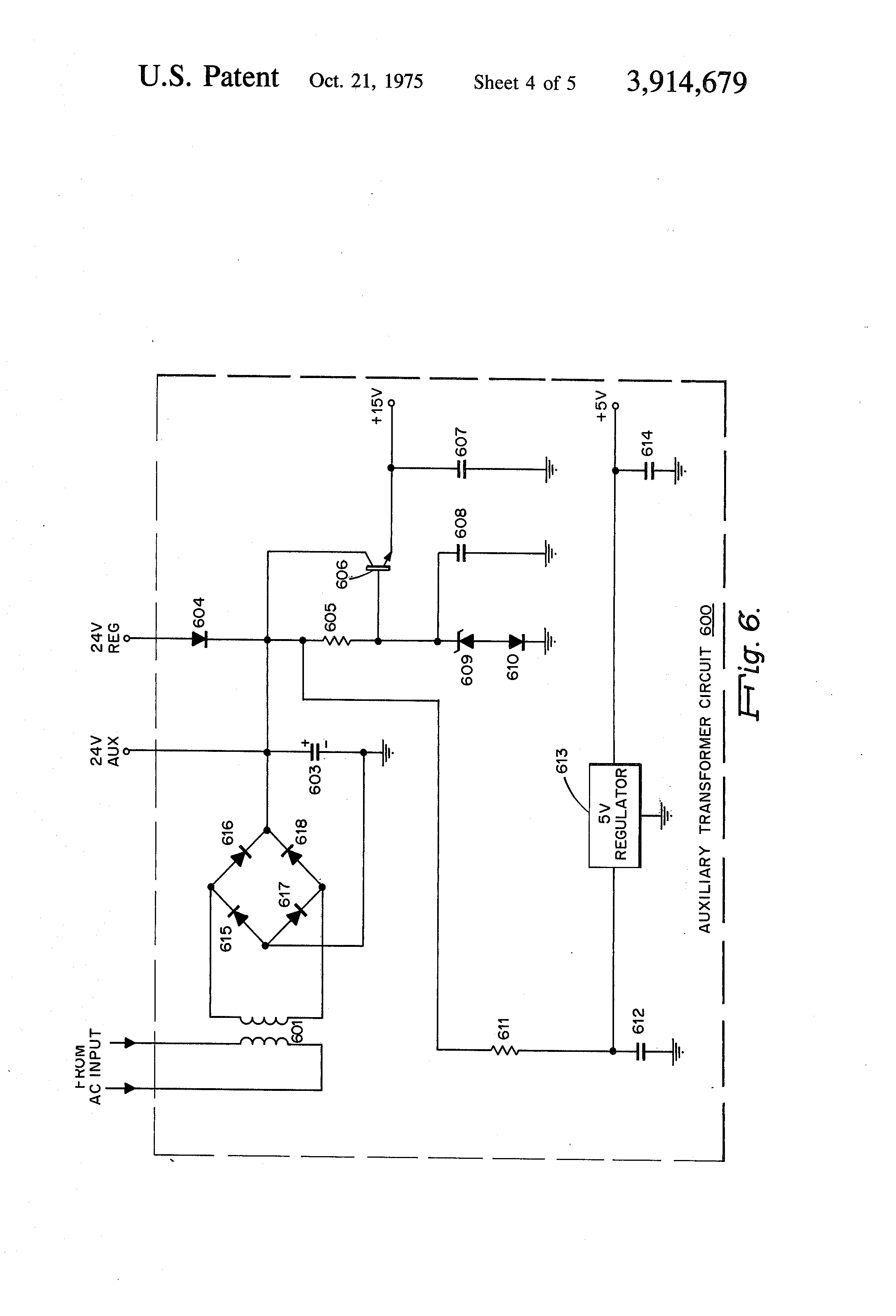 Patent Us3914679 High Voltage Transistorized Power Supply Constant Current Charger Circuit Switchingregulatorcircuit Drawing