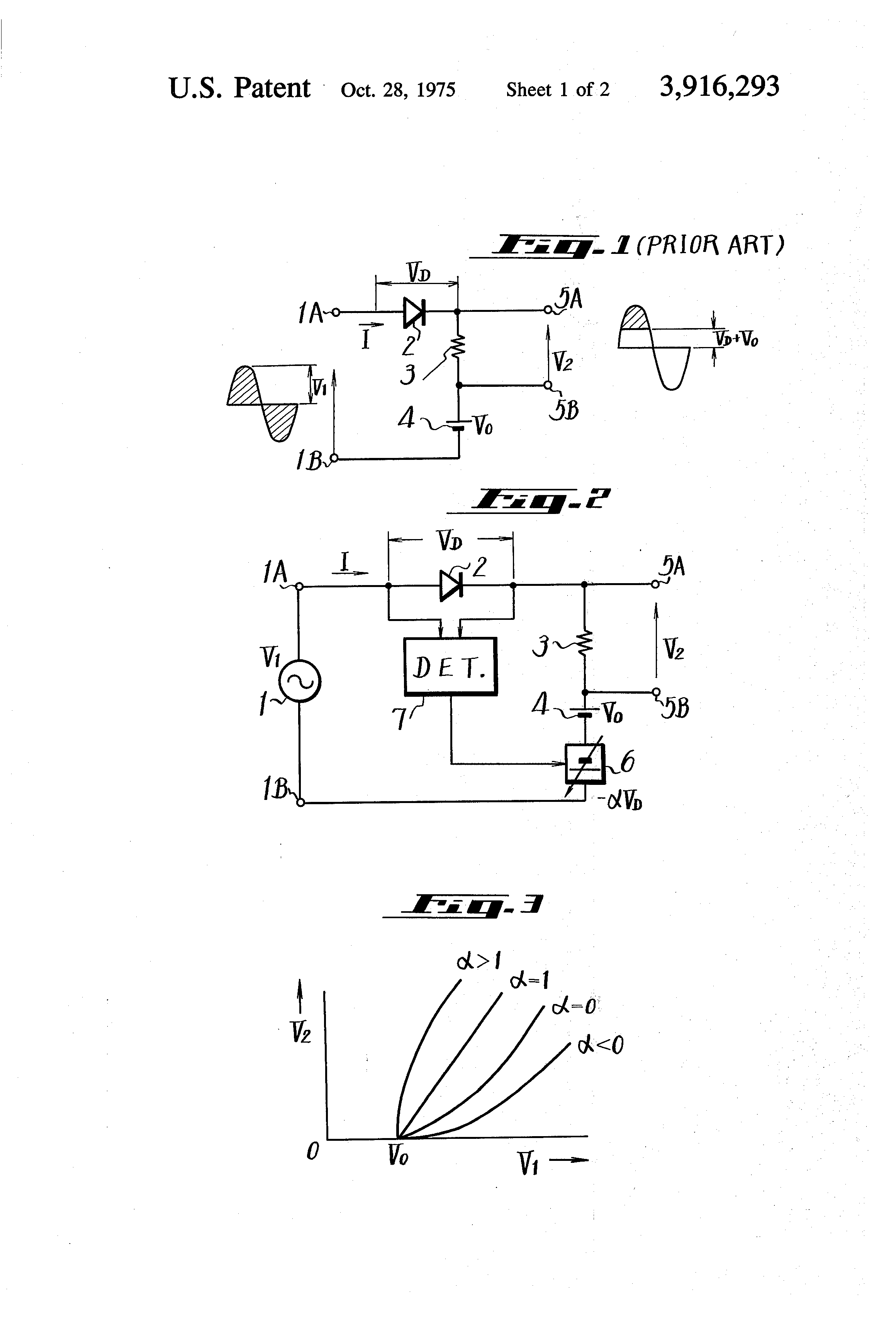 Patent Us3916293 Signal Clipping Circuit Utilizing A P N Junction Clippers Limiters Diode Can Be Used To Drawing
