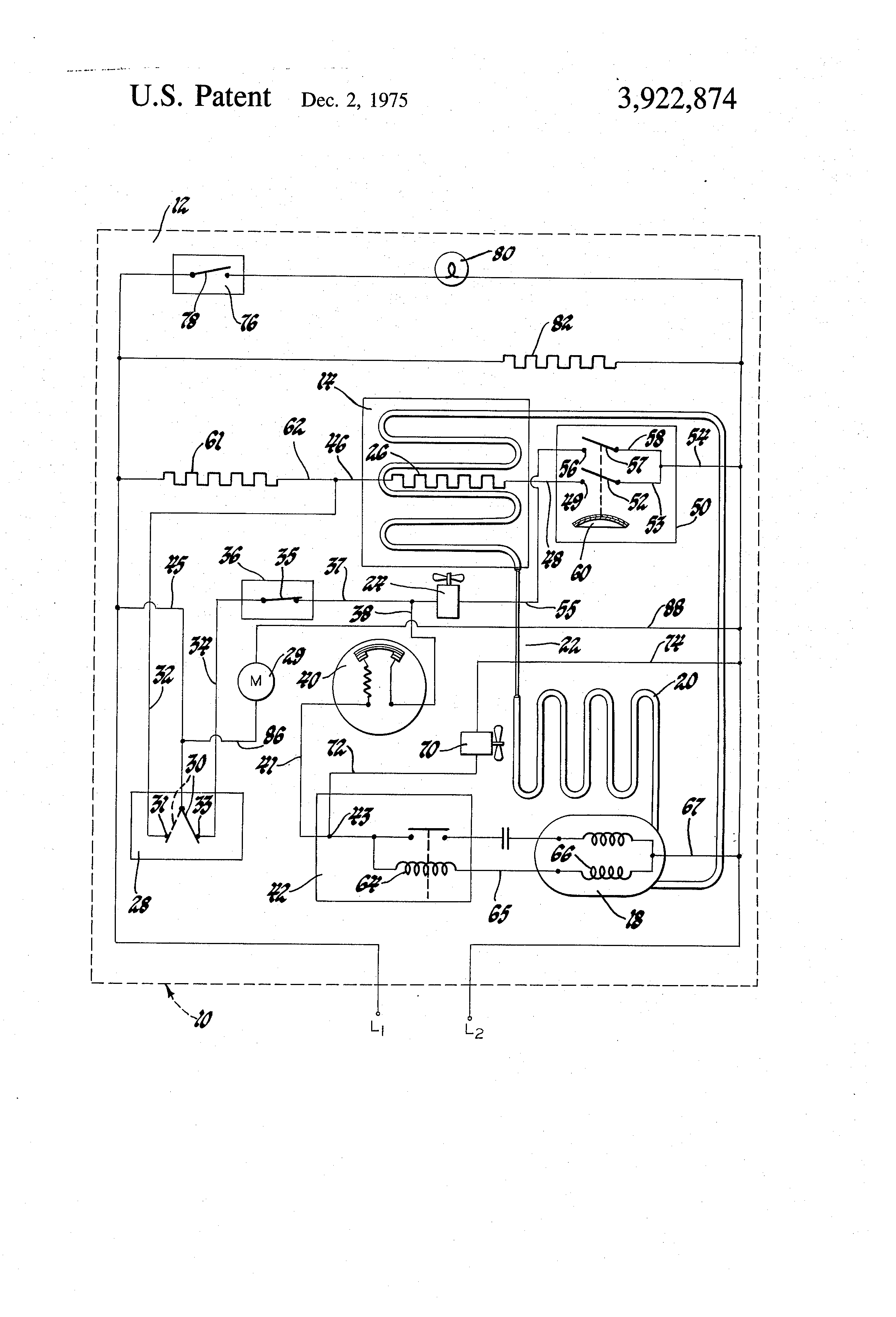 Patent US3922874 Evaporator fan delay circuit Google