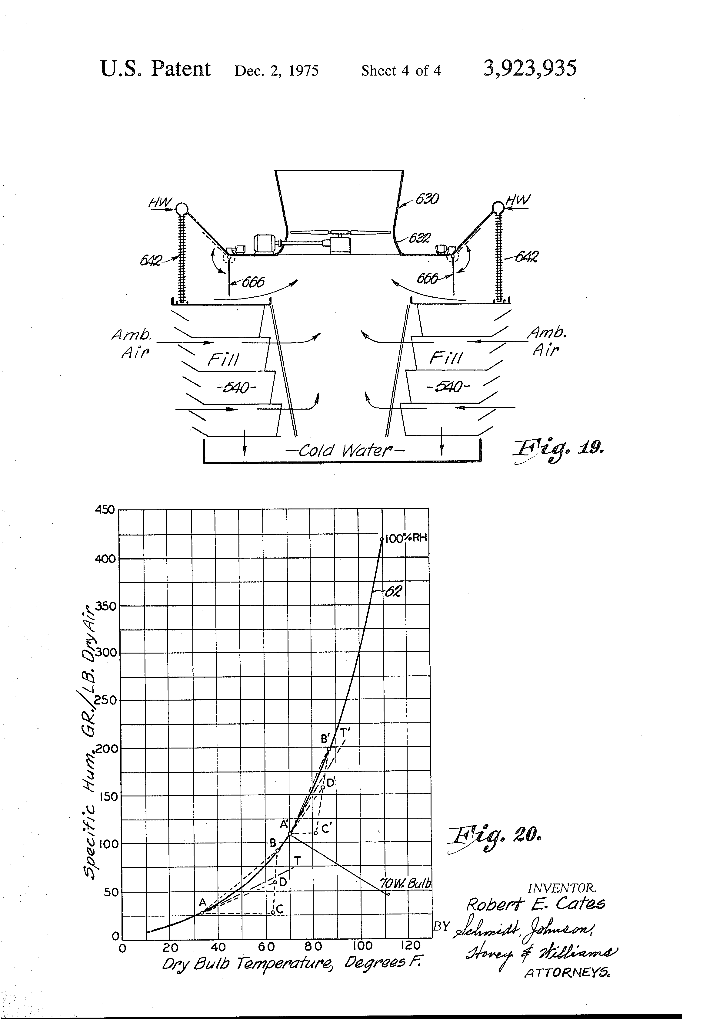 Parallel air path wet dry water cooling tower   Patents #454545