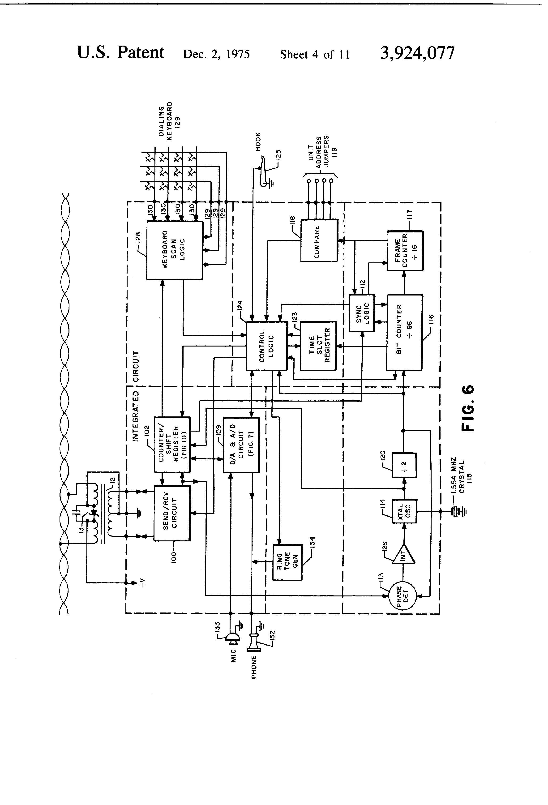 Patent Us3924077 Pulse Code Modulation Time Division Multiplex Wireless Video Doorbell Circuit Basiccircuit Diagram Drawing