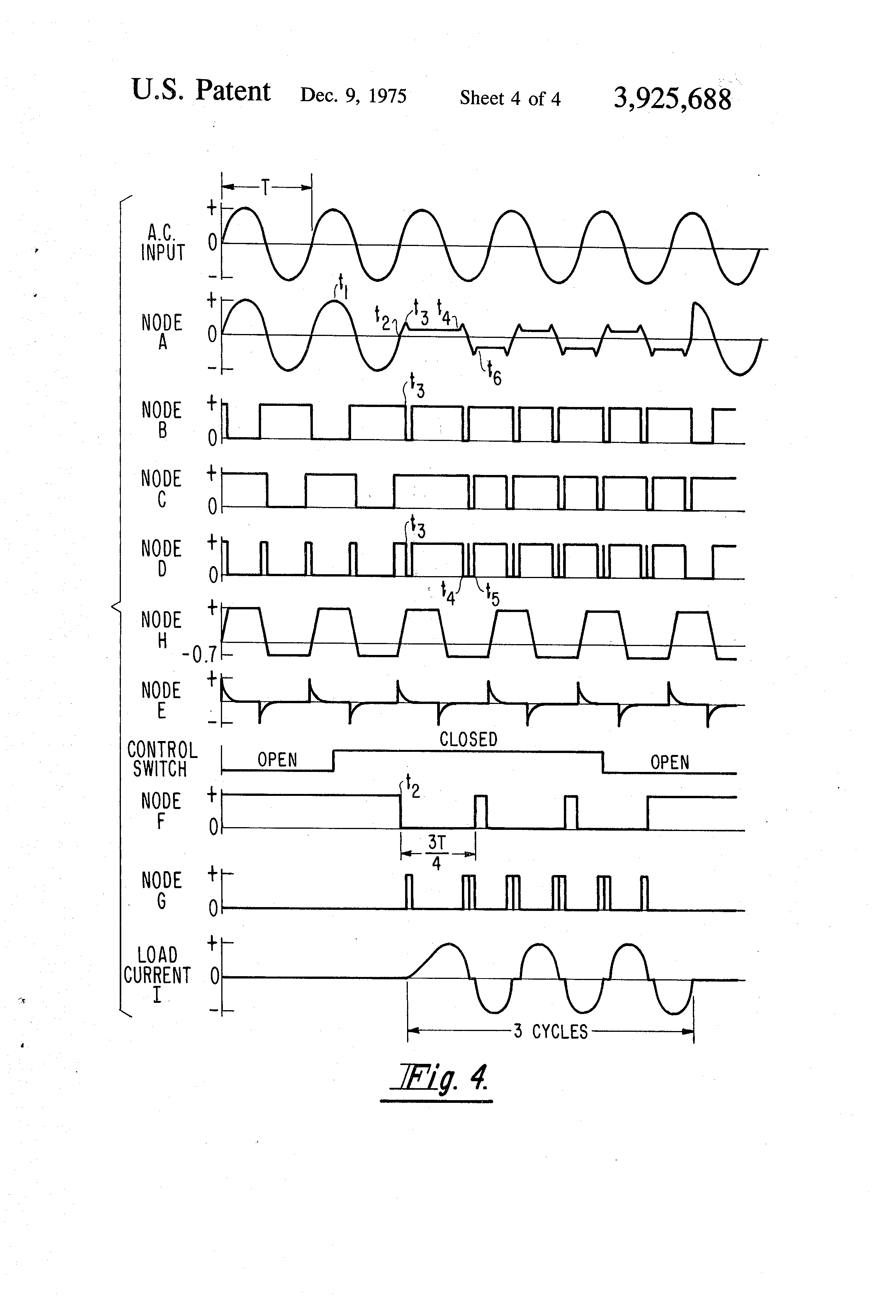Patente Us3925688 Integral Cycle Zero Voltage Switching Circuits Of Complete Circuit Diagram Firing Angle Control For Triac Patent Drawing