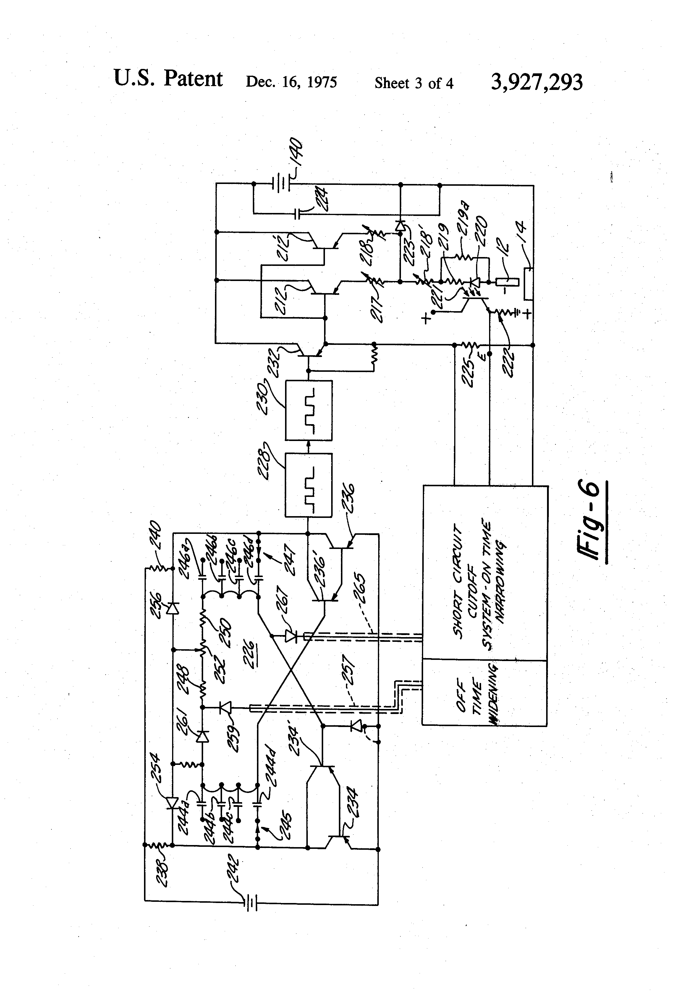 patent us3927293 - function control circuit for edm power supply