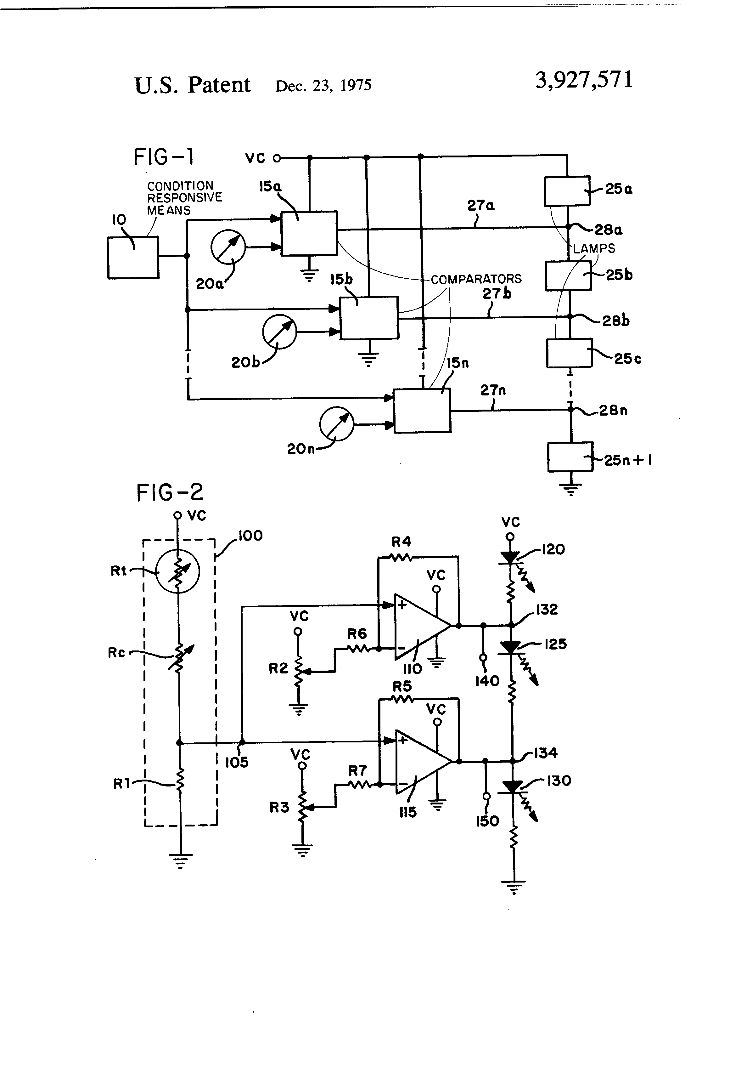 Patent Us3927571 Temperature Indicating Device Google Patents Alarm With Op Amp Comparator Drawing