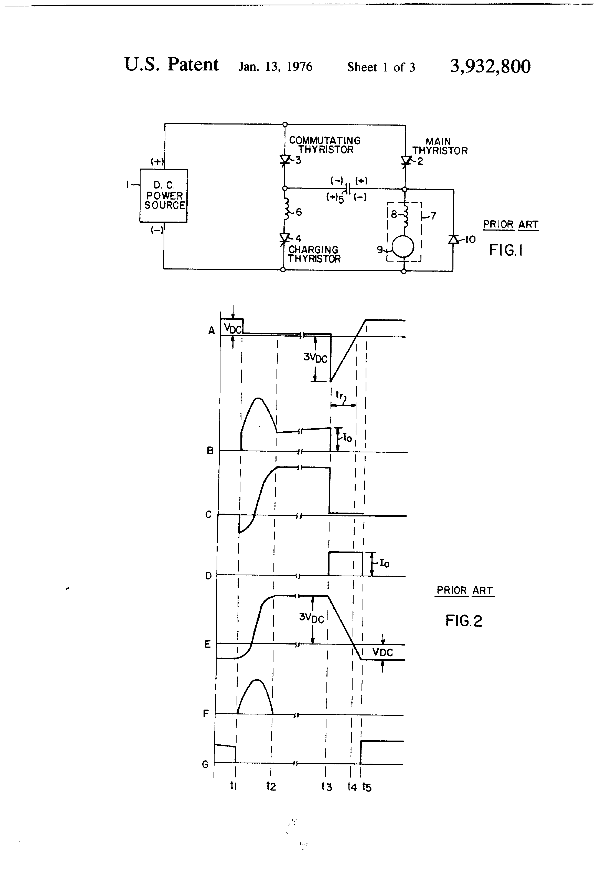 Patent Us3932800 Direct Current Power Control Circuit Google Scr Silicon Controlled Rectifier Drawing