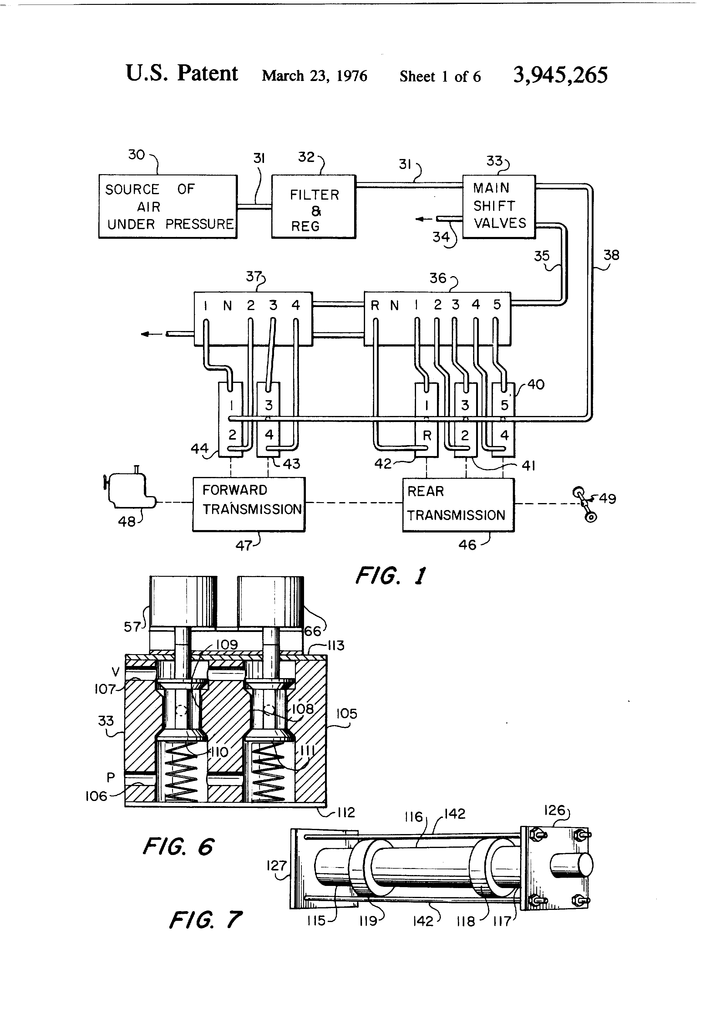 Wiring Diagram Eaton Transmission 33 Images Induction Furnace Free Download Schematic Us3945265 1 Patent Fluid Actuated Gear Changing System Google Automatic At