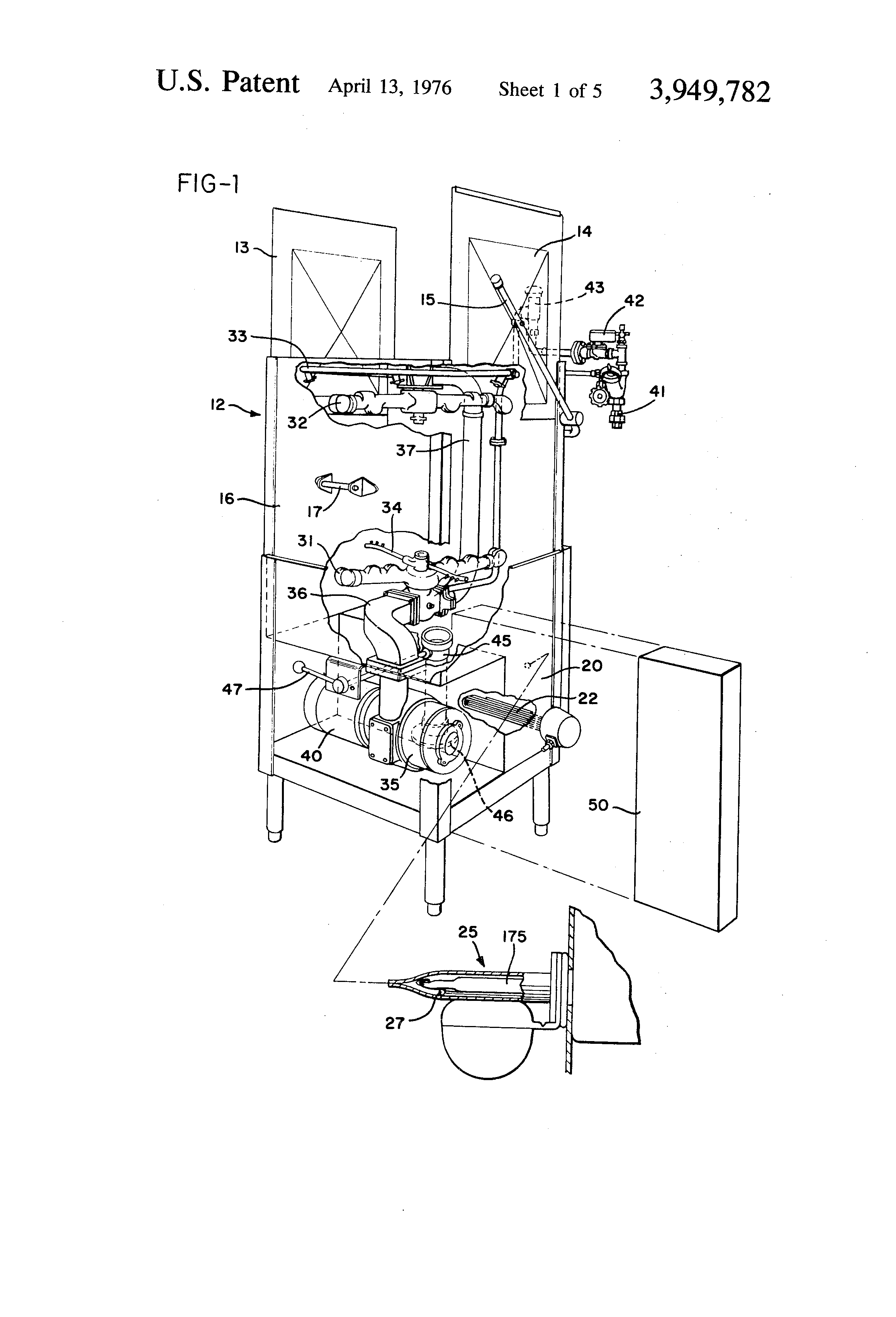 patent us3949782 - control circuit for dishwasher