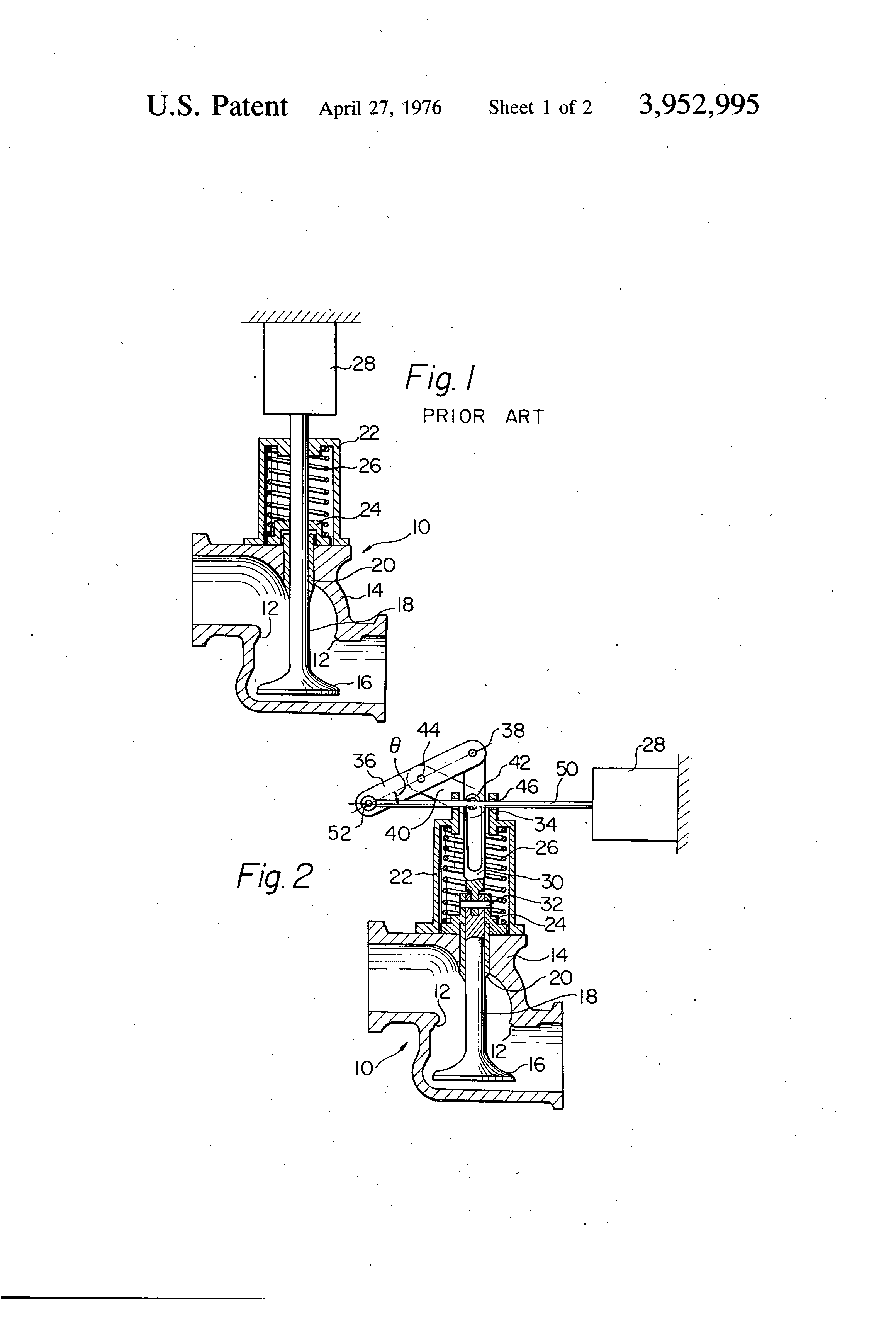 Patent Us3952995 Lifter Mechanism For Spring Loaded