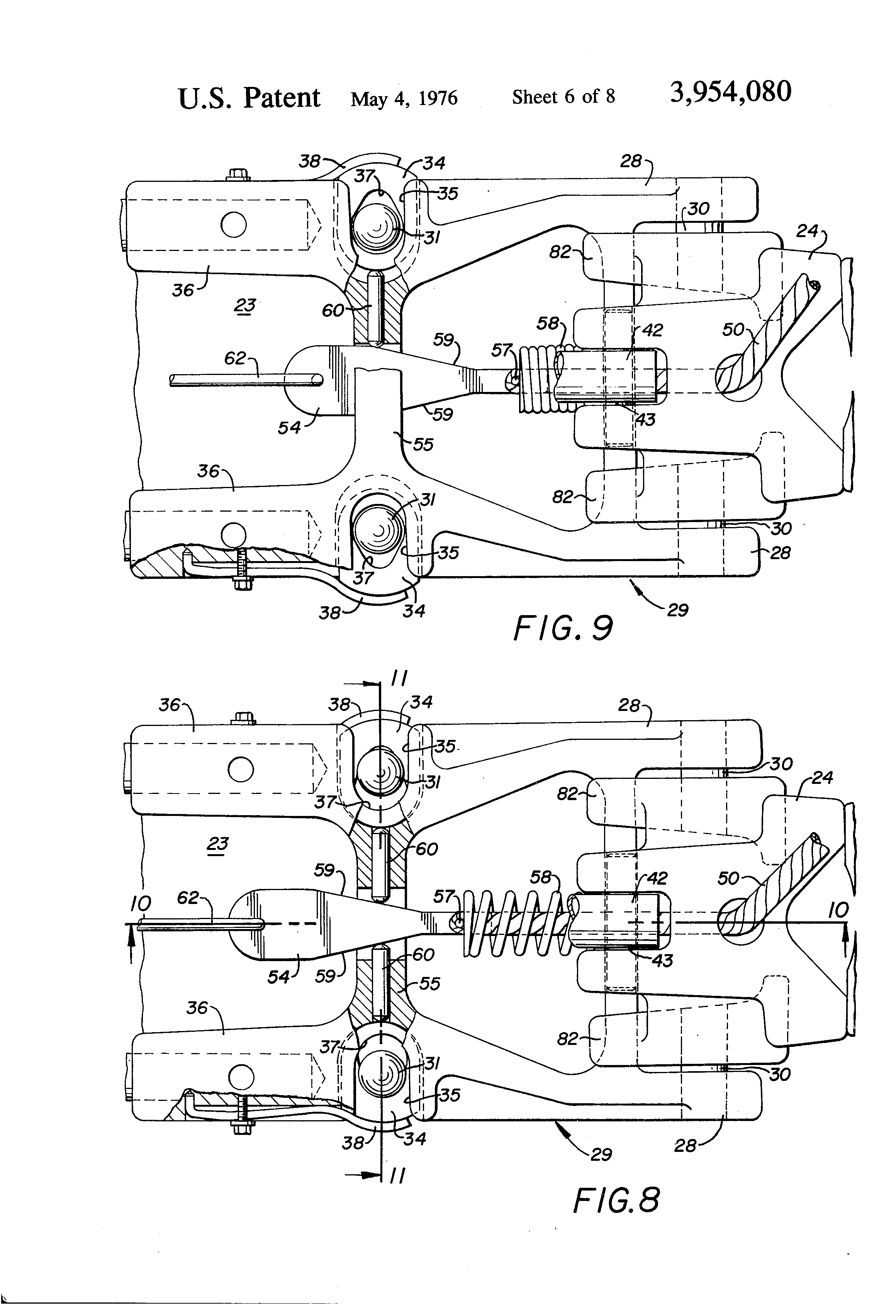 Brevet Us3954080 Bow Mount For Trolling Motors Google Brevets 6 Wire Trailer Wiring Diagram Toyota Patent Drawing