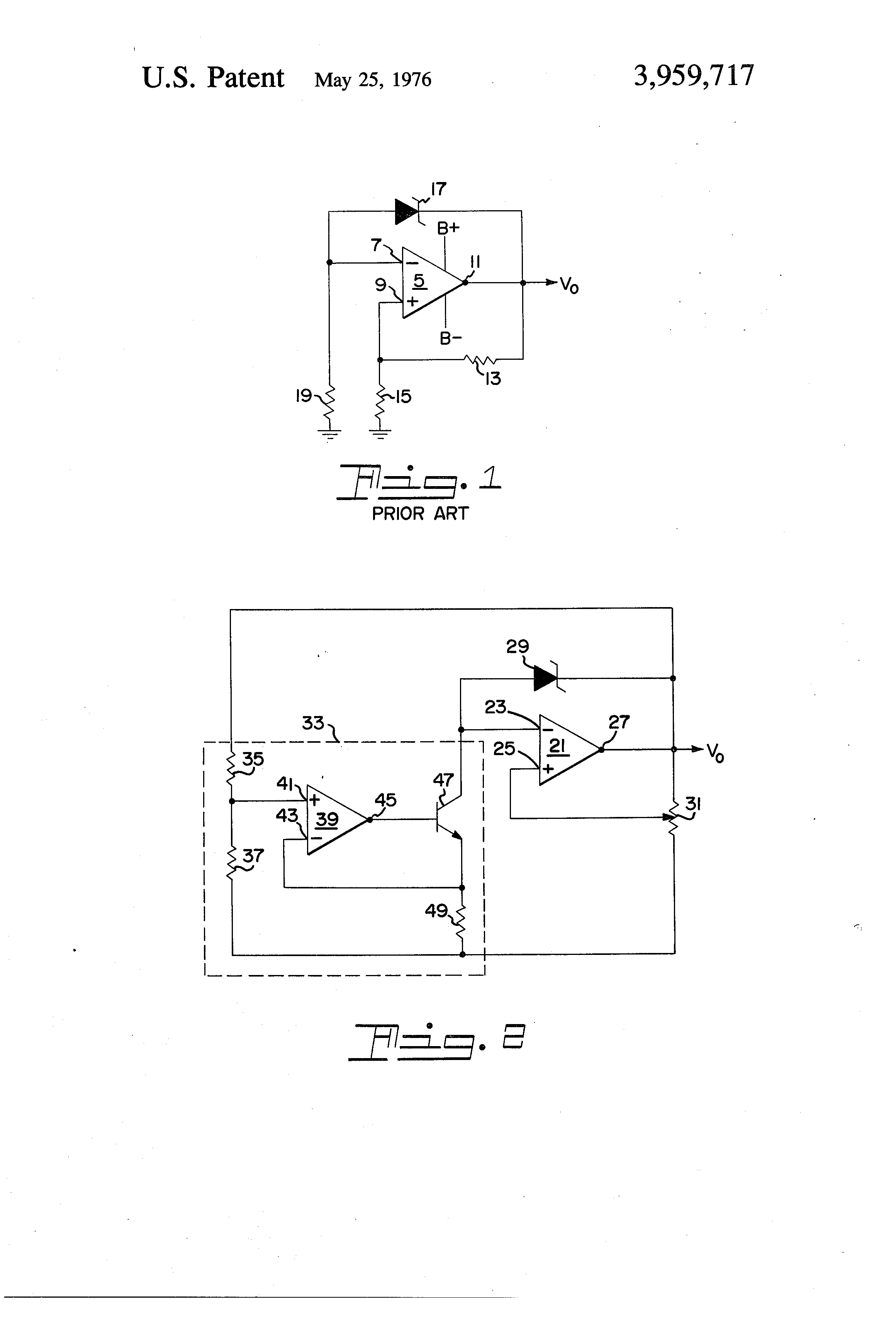 Patent Us3959717 Temperature Stabilized Voltage Reference Circuit Adjustable Zener Diode Schematic Drawing