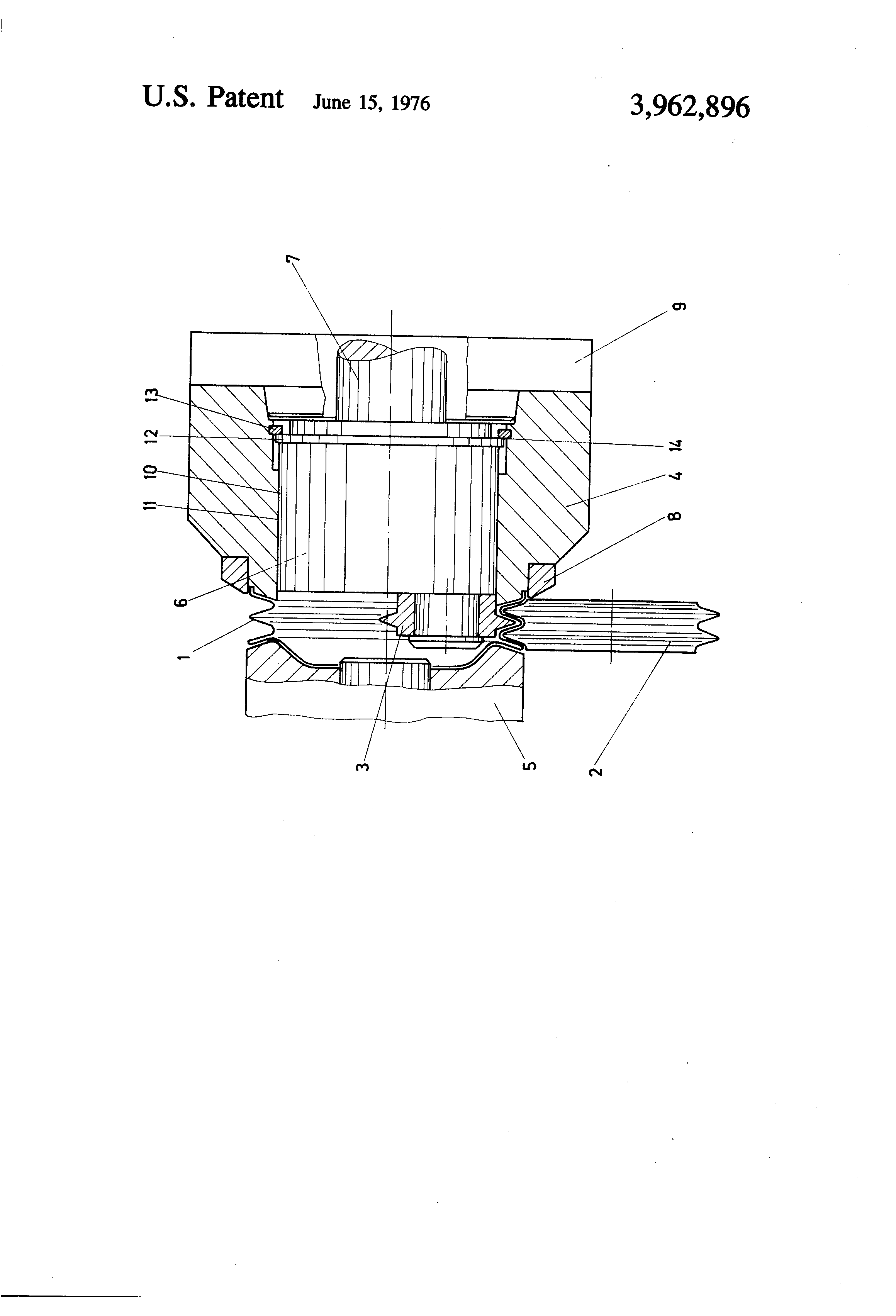 Patent US3962896 - Method of producing V-belt pulleys and