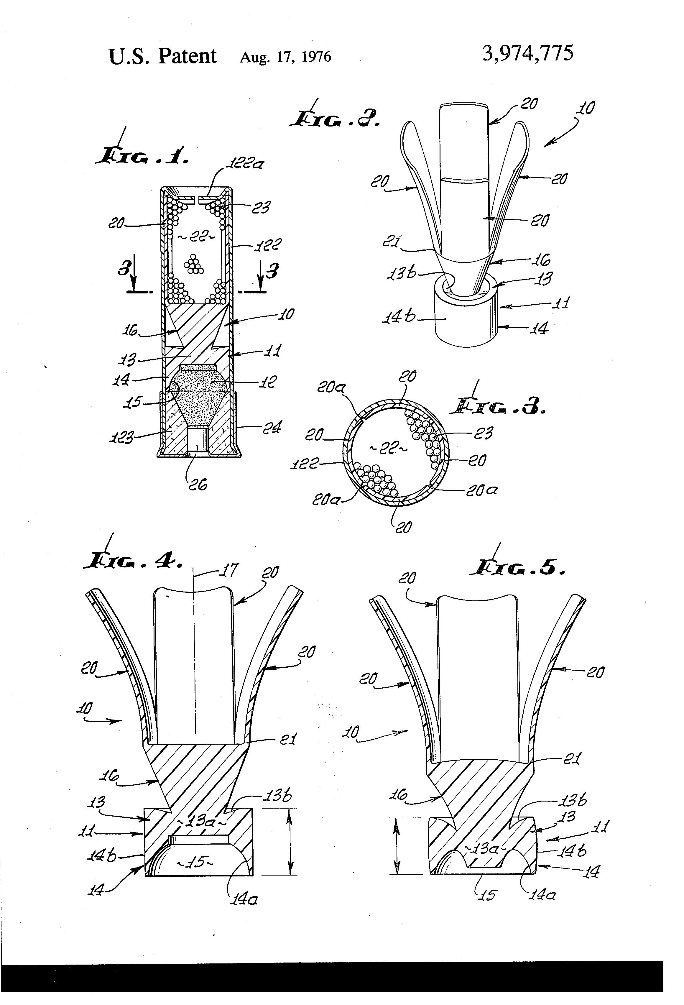 Patent Us3974775 Wad Unit For Shotgun Shell Google Patents