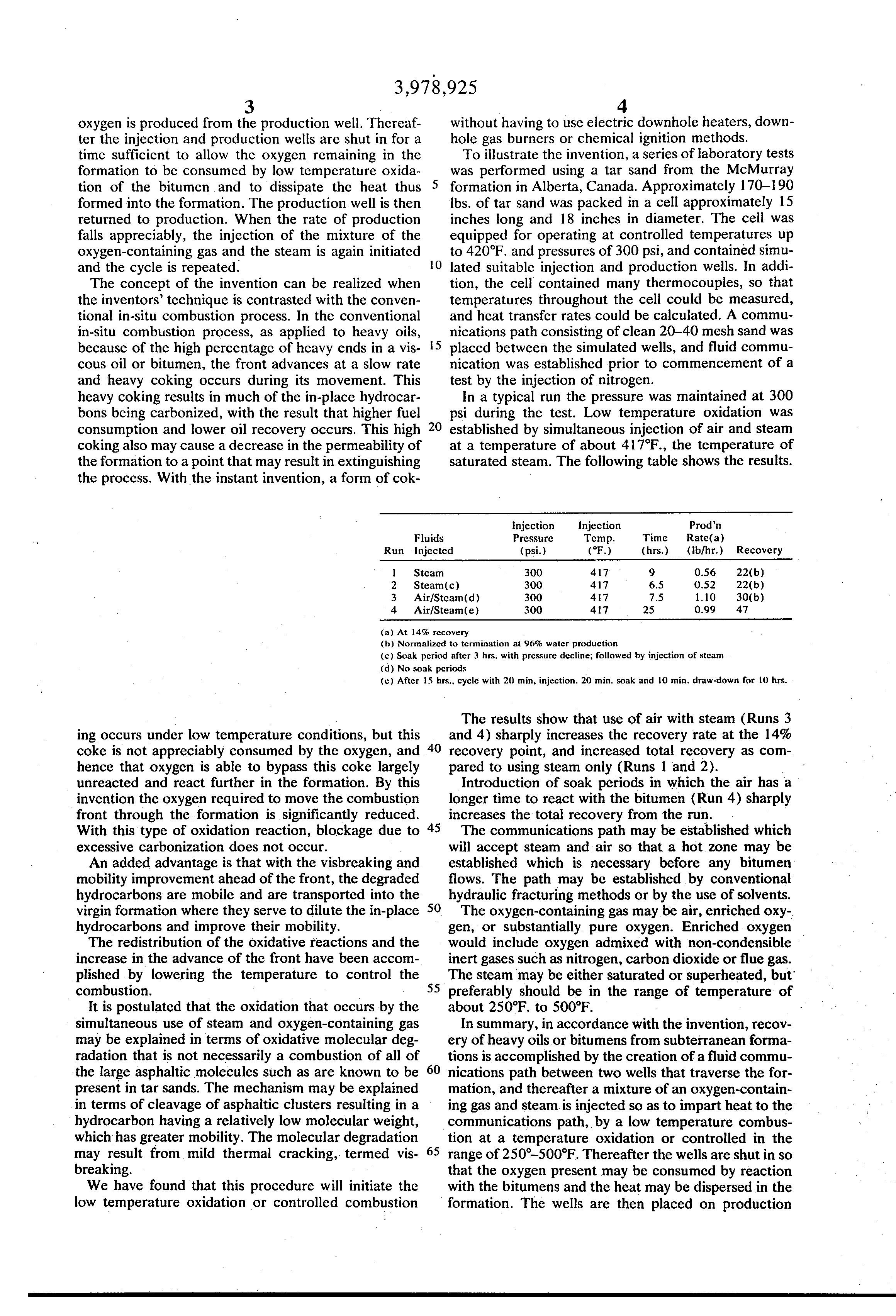 Patent US3978925 - Method for recovery of bitumens from tar