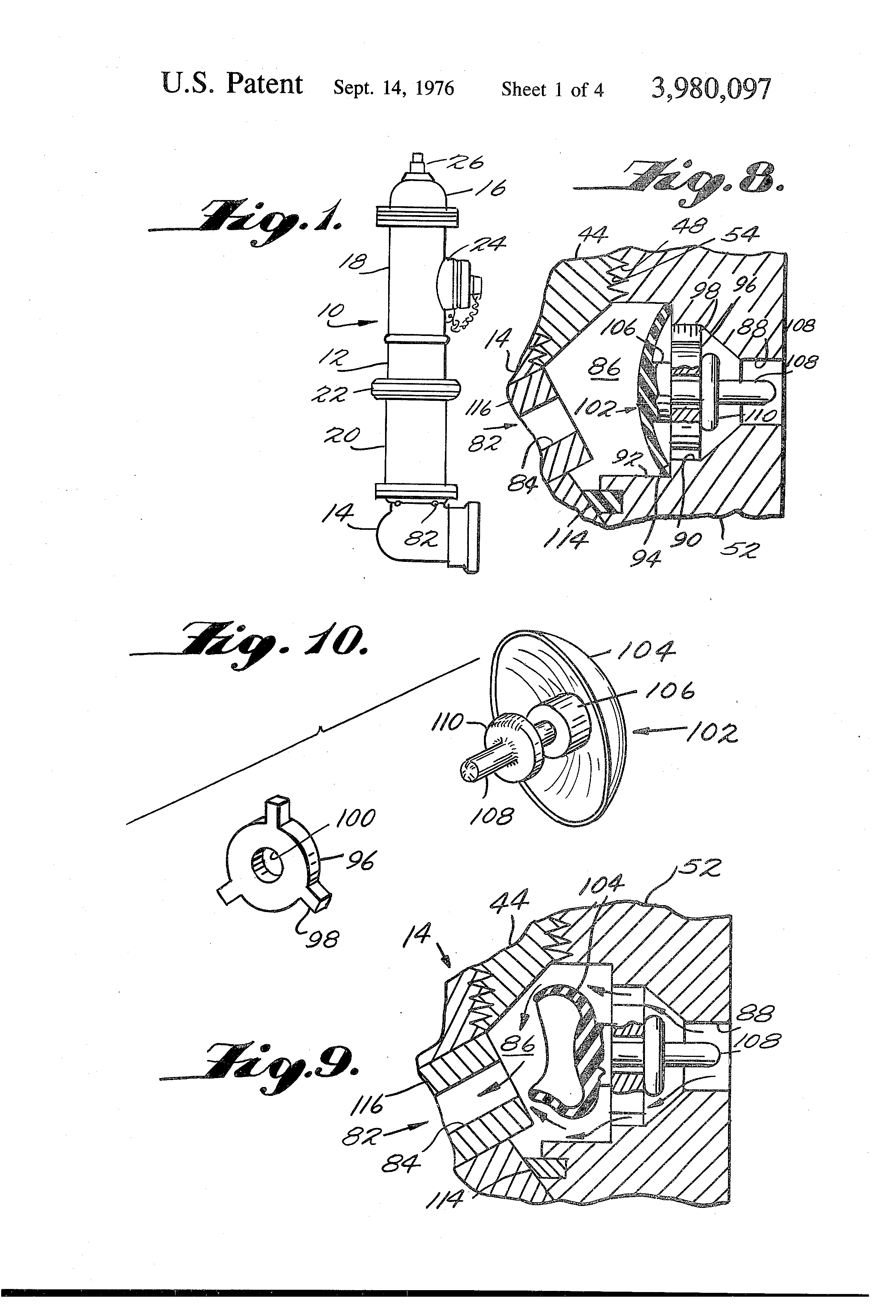Patent Us3980097 Auto Electrical Wiring Diagram